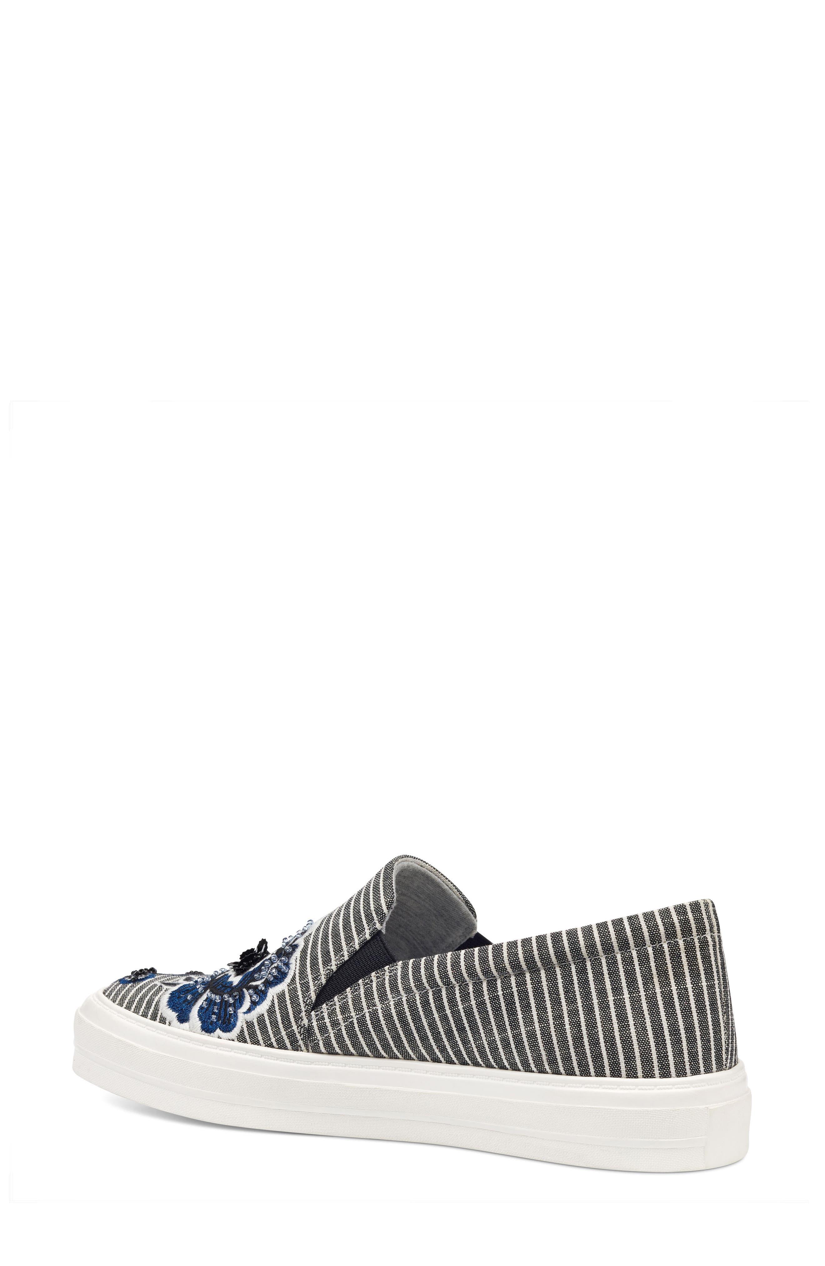 Onyeka Embroidered Slip-On Sneaker,                             Alternate thumbnail 2, color,                             001