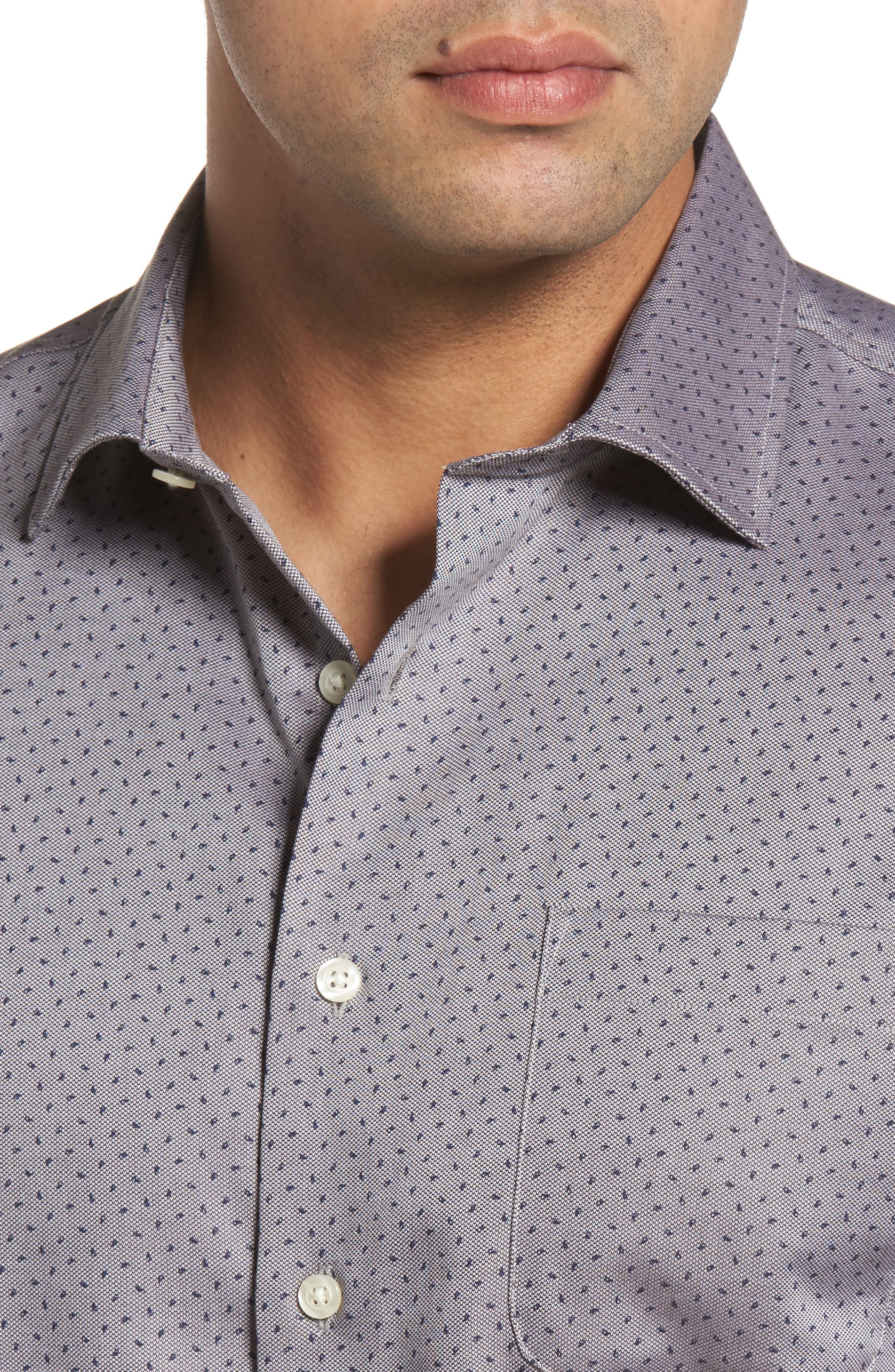 Gibson Classic Fit Print Sport Shirt,                             Alternate thumbnail 4, color,                             022