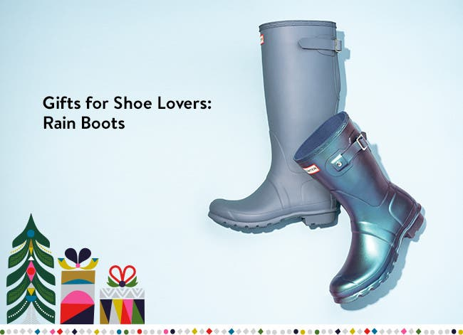 Gifts for shoe lovers: rain boots.