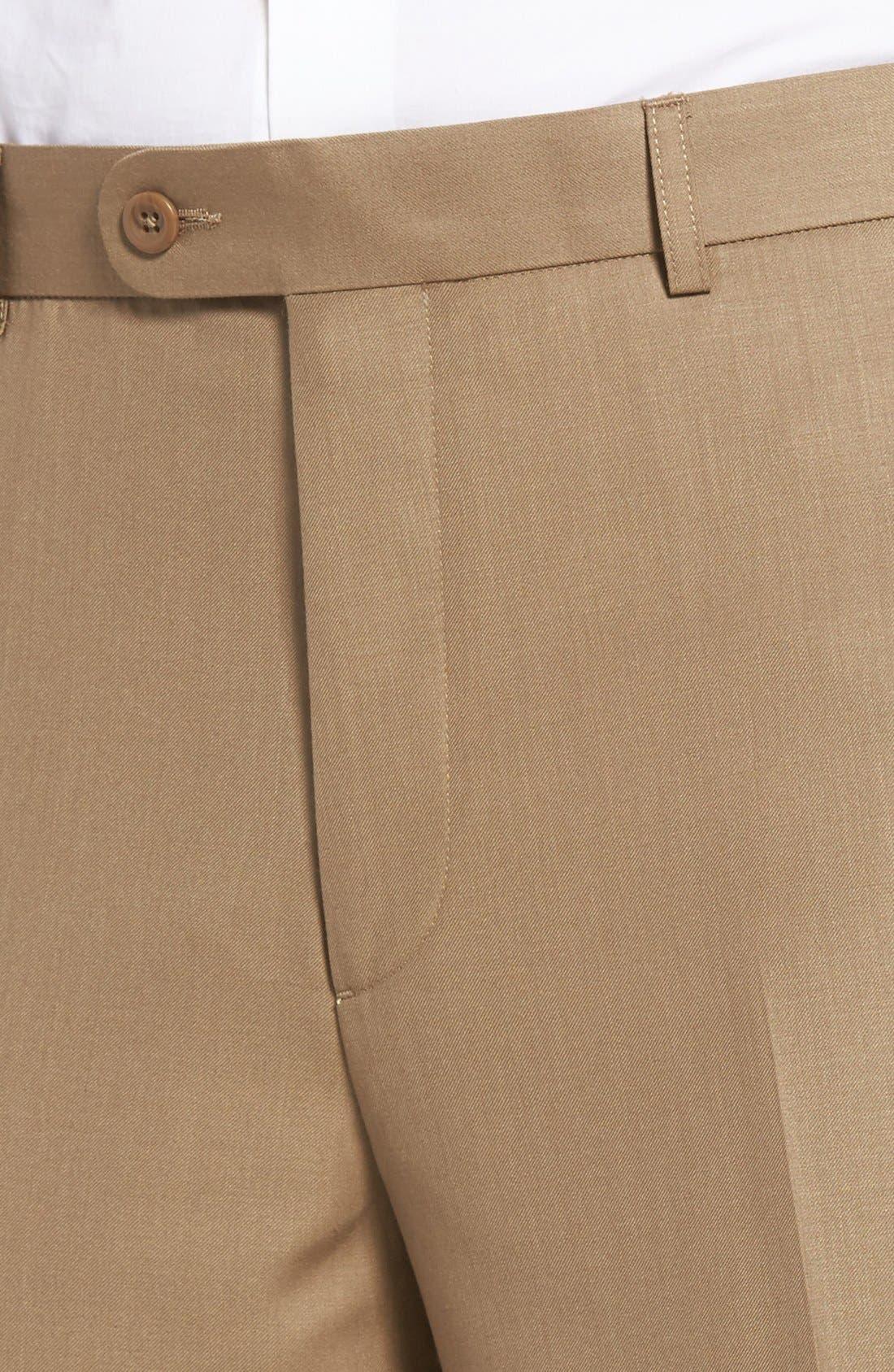 'Travel Genius - Hawk' Flat Front Pants,                             Alternate thumbnail 18, color,
