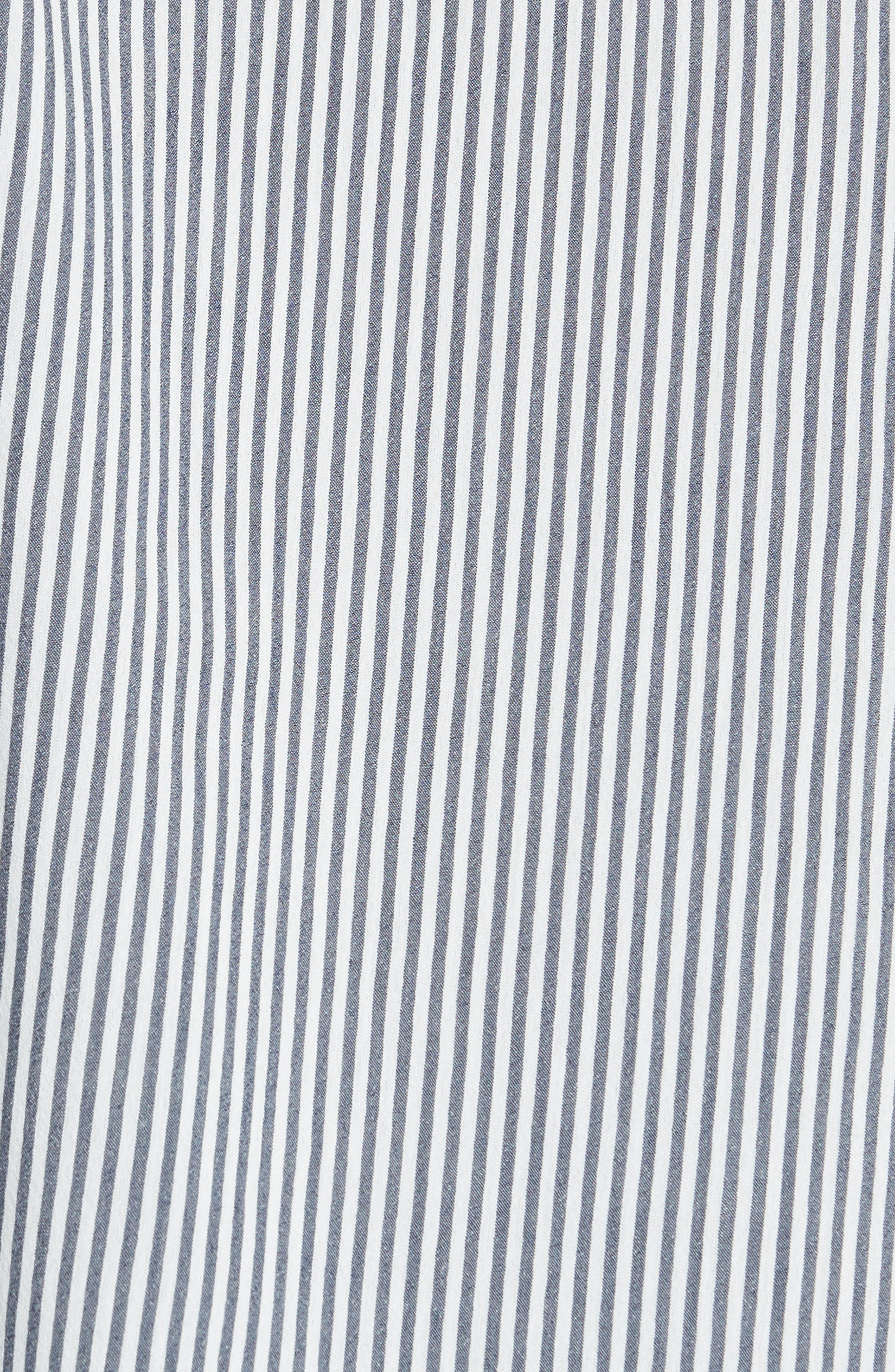 James Lace Trim Stripe Shirt,                             Alternate thumbnail 5, color,                             400