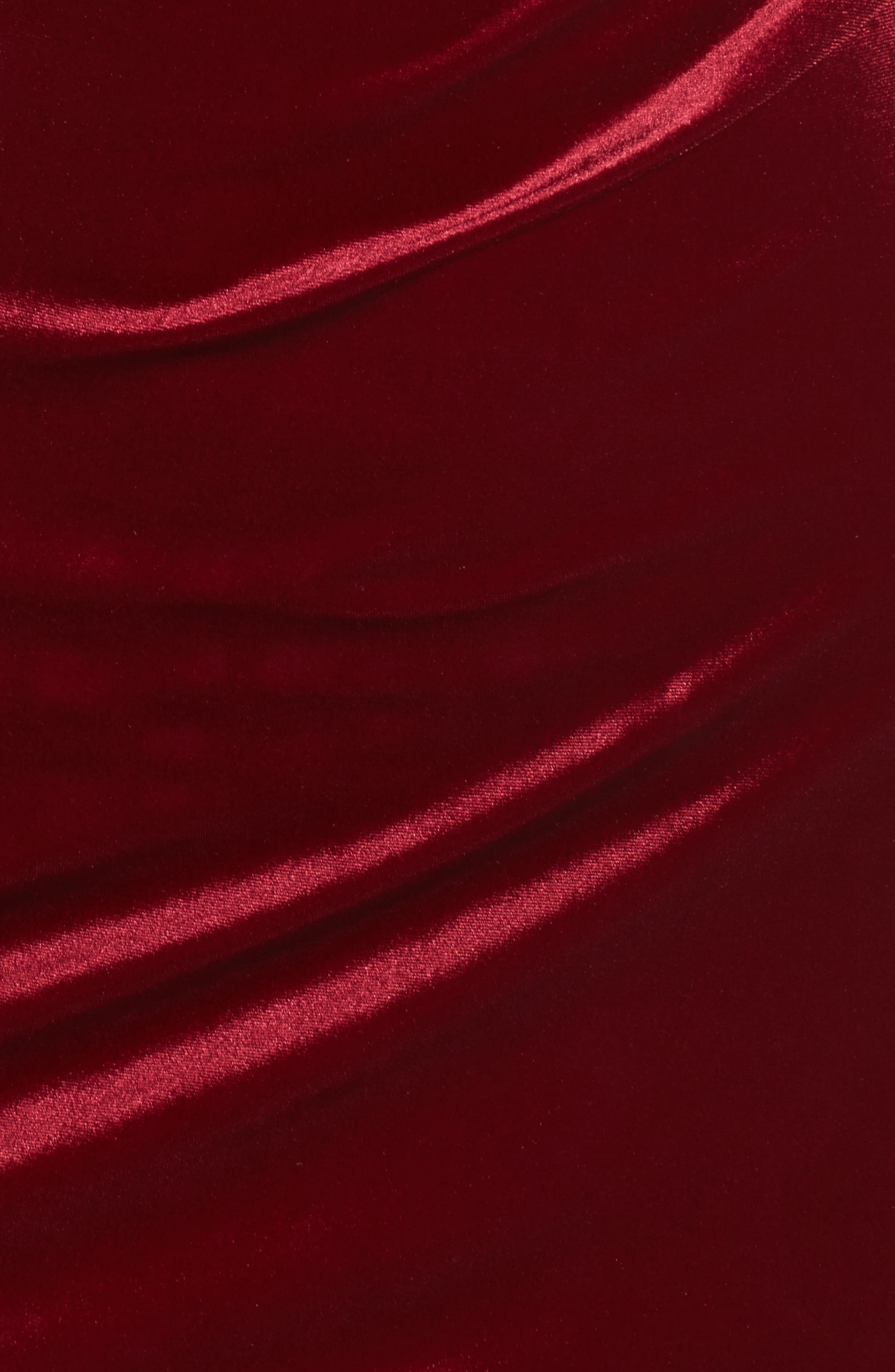 Pleat Side Velvet Dress,                             Alternate thumbnail 5, color,                             935