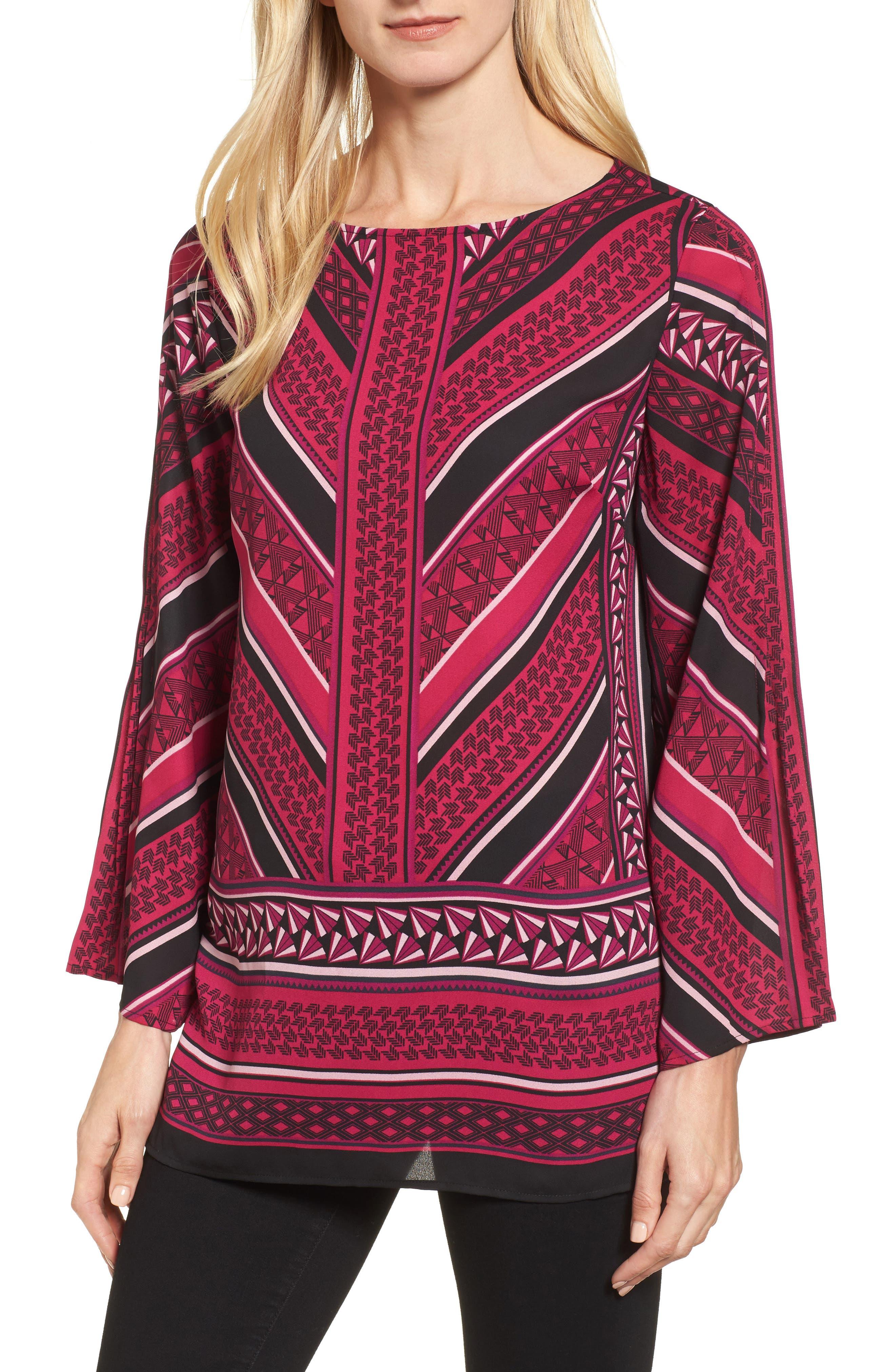 Pleated Sleeve Blouse,                         Main,                         color, 651