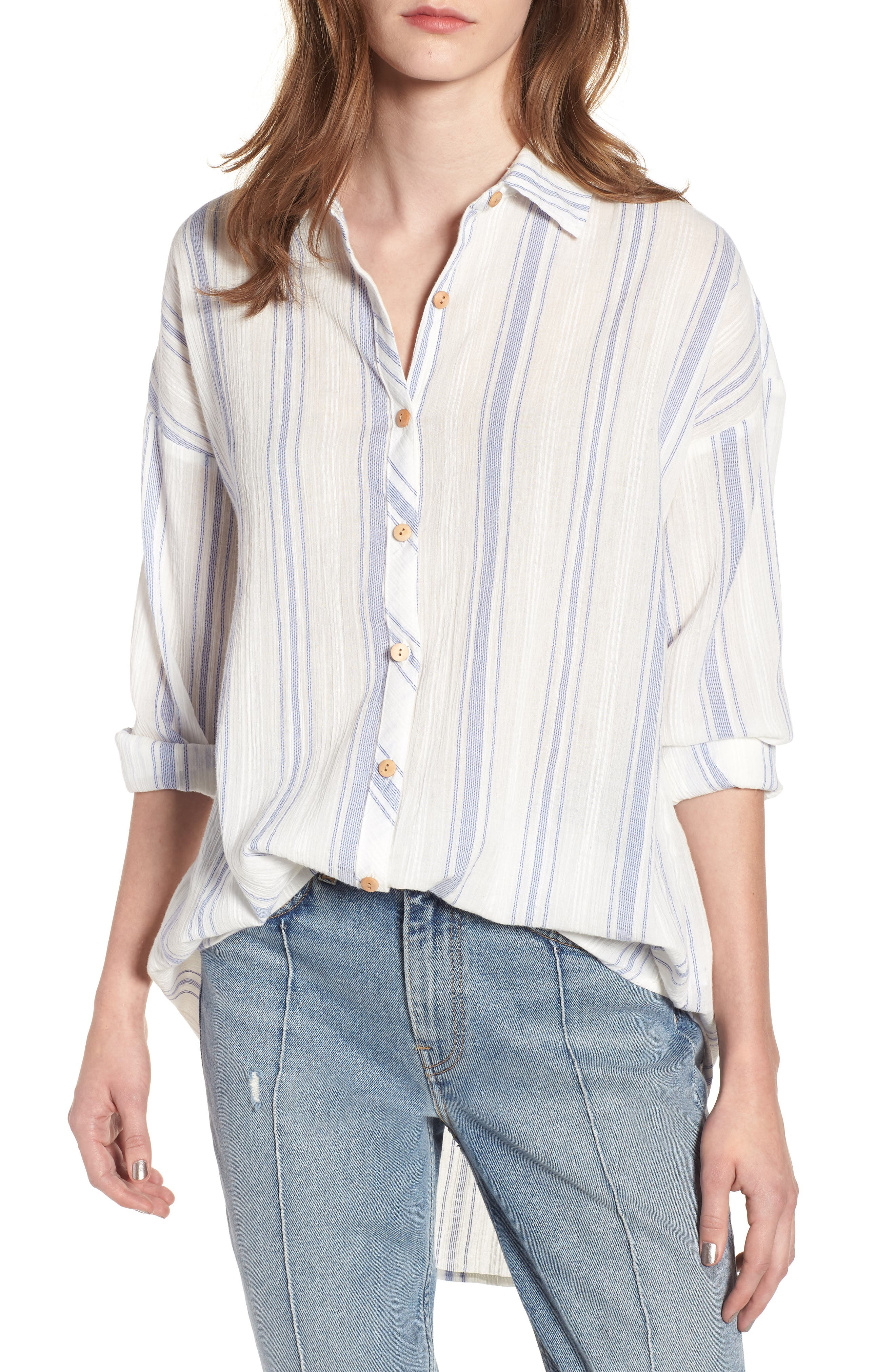 Alani Stripe Woven Shirt,                             Main thumbnail 1, color,