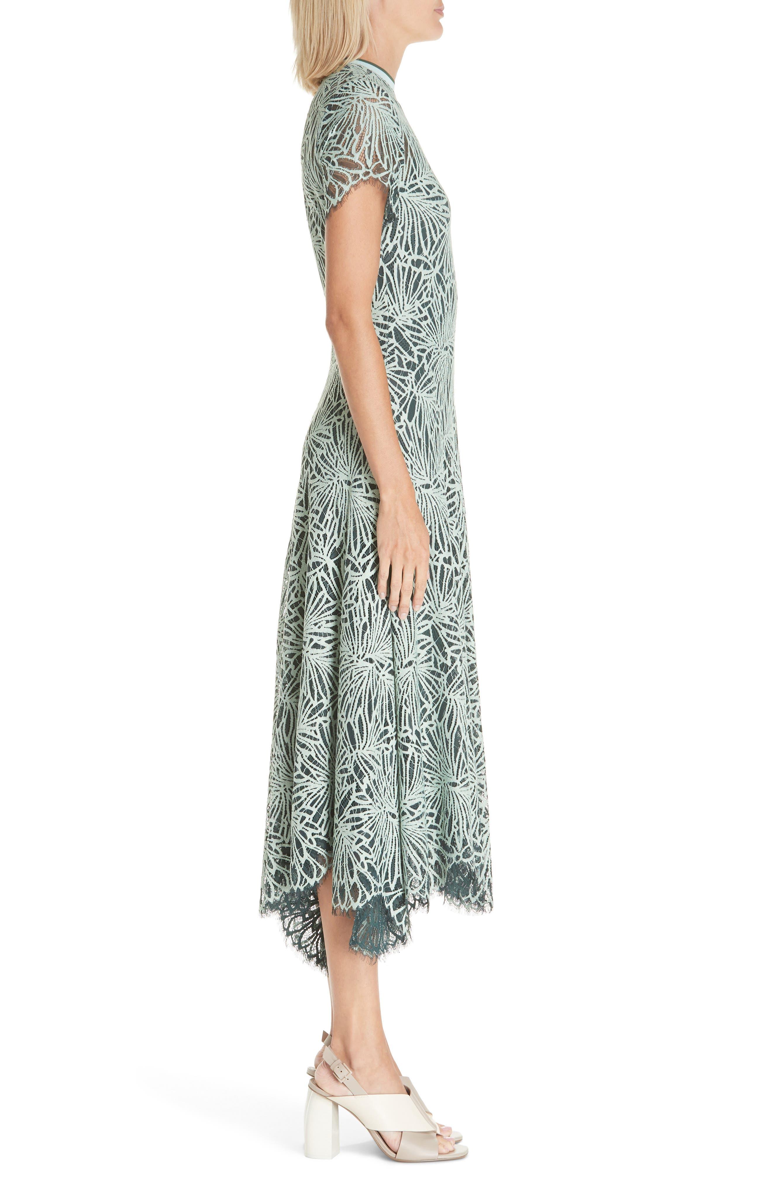 Stretch Lace Dress,                             Alternate thumbnail 3, color,                             SPEARMINT