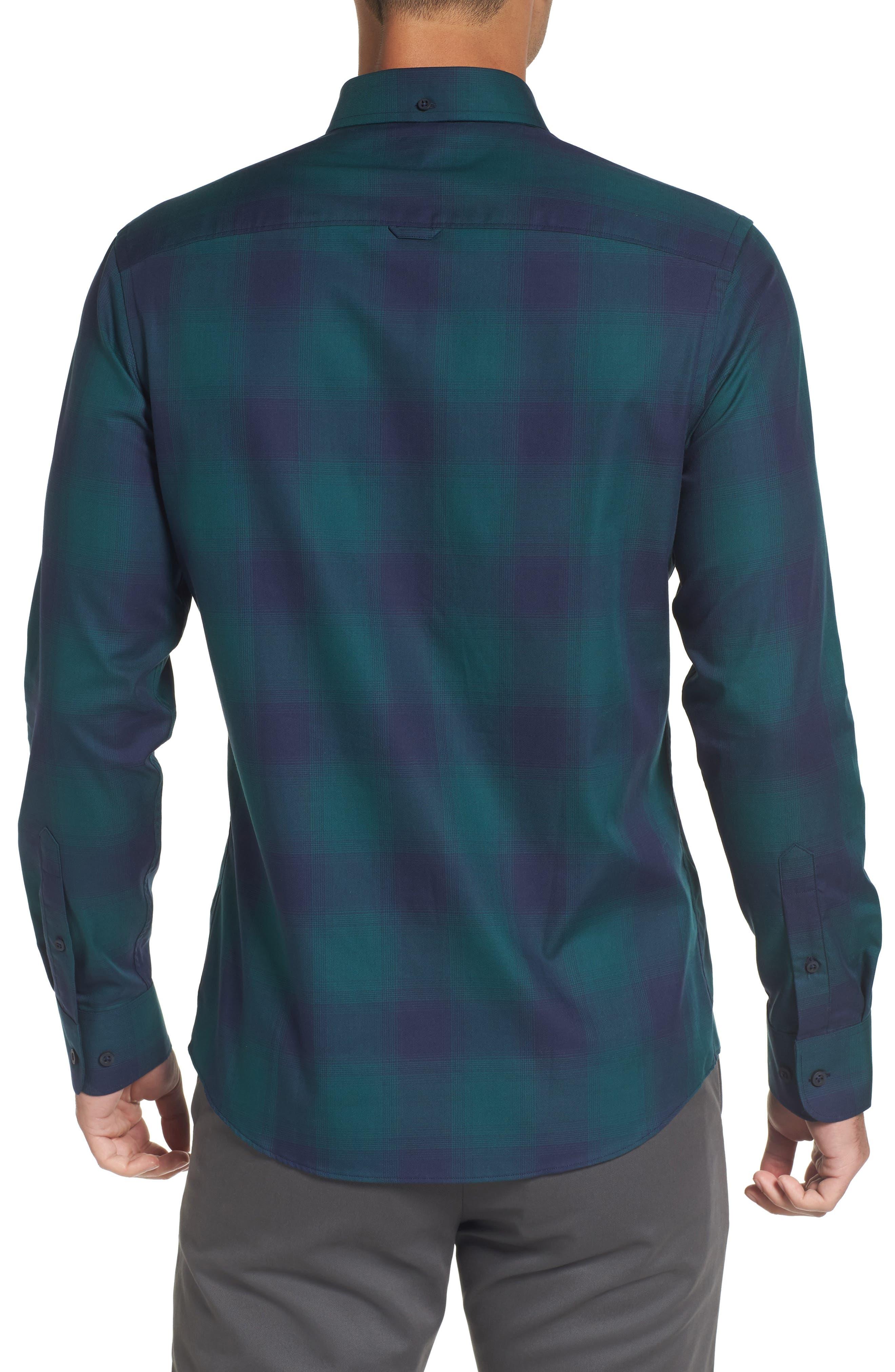Slim Fit Check Sport Shirt,                             Alternate thumbnail 2, color,                             301