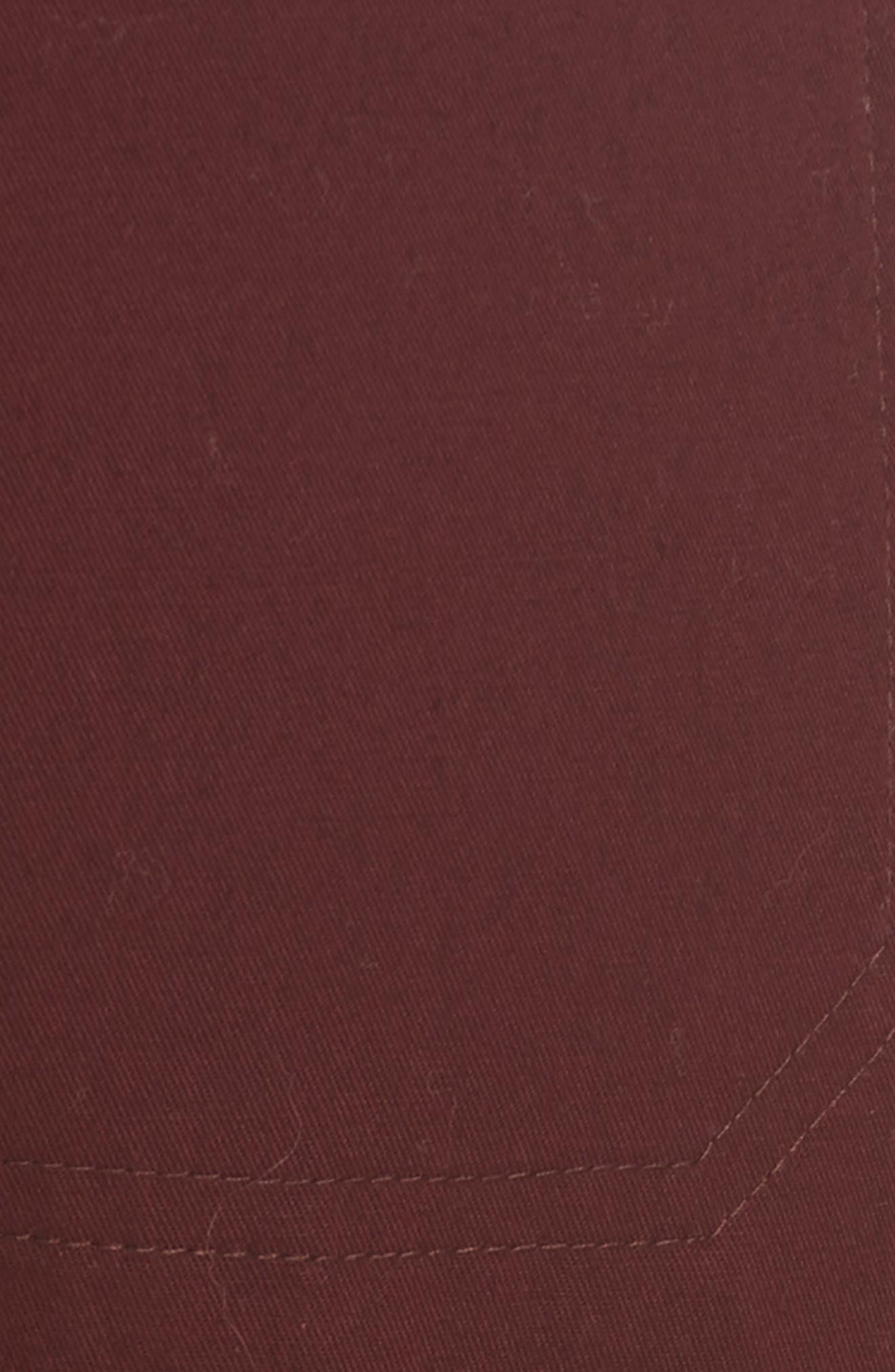 Coin Pocket Chino Pants,                             Alternate thumbnail 5, color,                             BLACK CHERRY