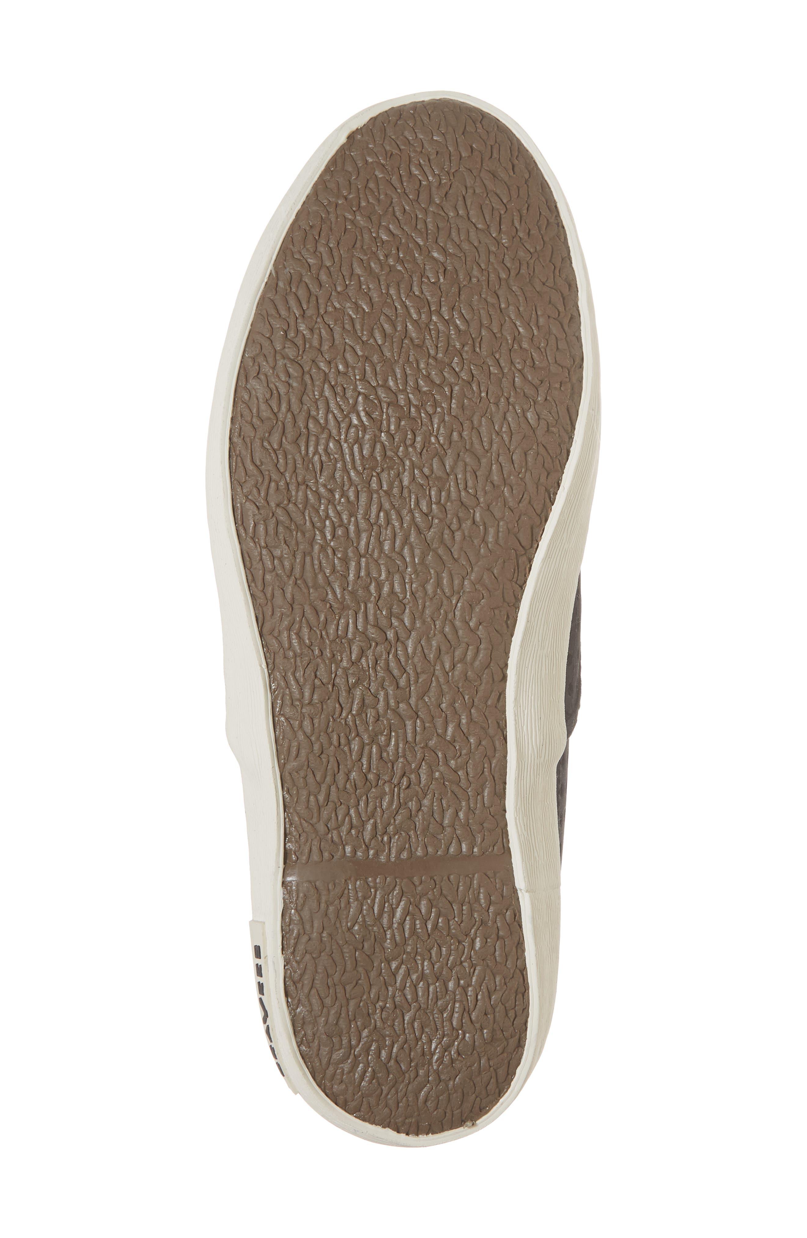 Baja Perforated Slip-On Sneaker,                             Alternate thumbnail 6, color,                             BLACK