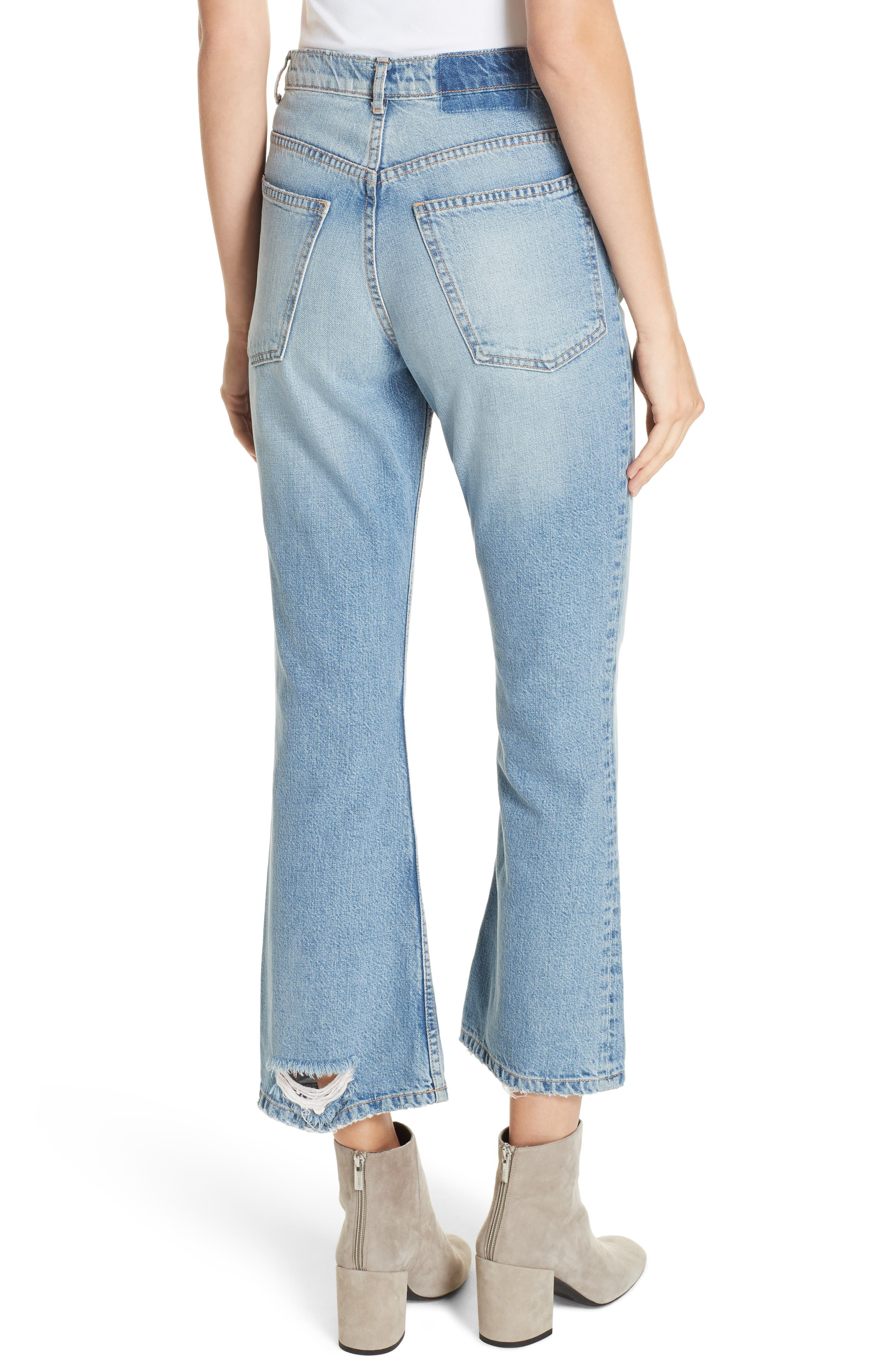 Western Crop Bootcut Jeans,                             Alternate thumbnail 2, color,                             TENNESSEE WASH