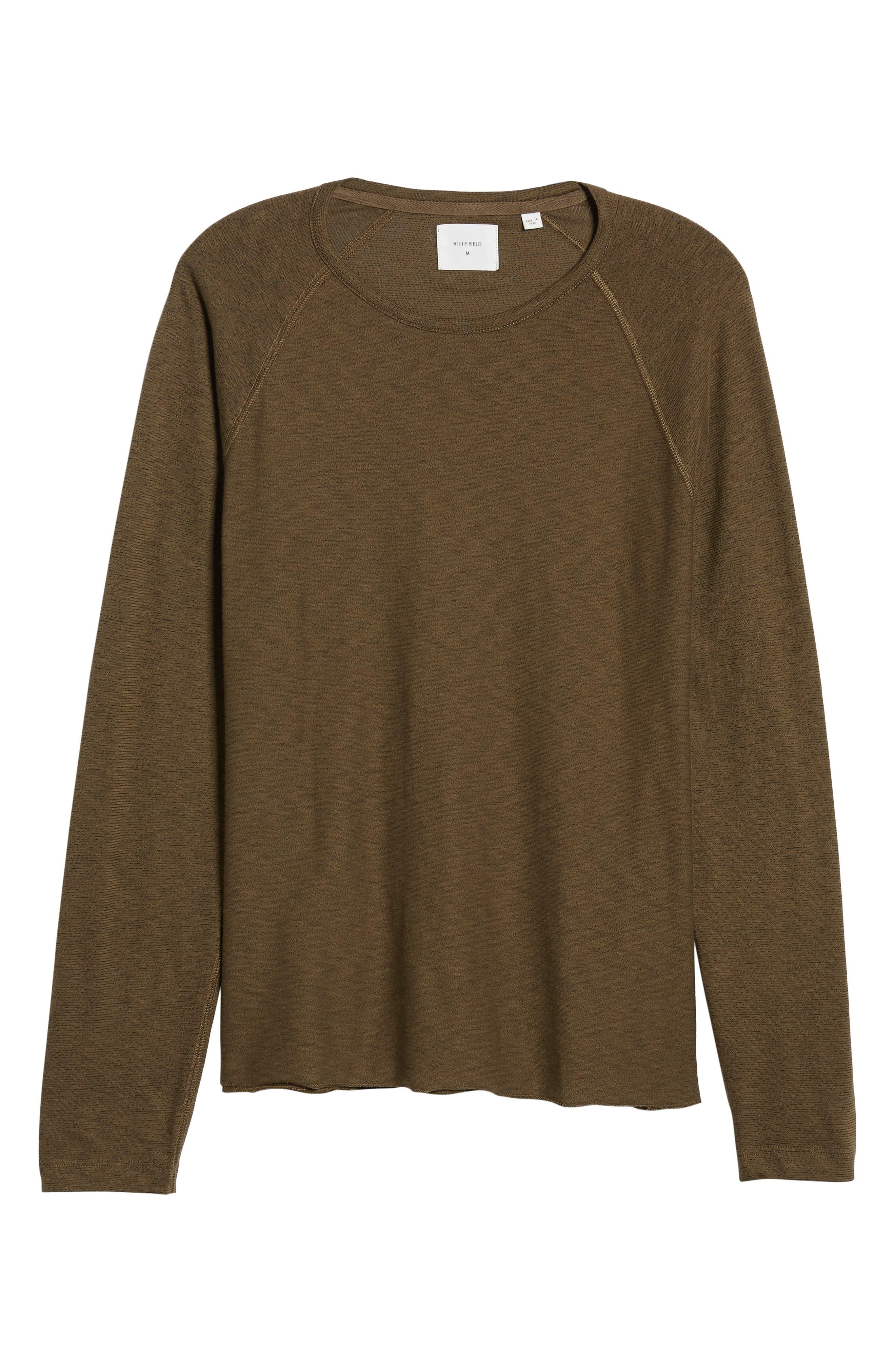 Regular Fit Long Sleeve T-Shirt,                             Alternate thumbnail 6, color,                             OLIVE