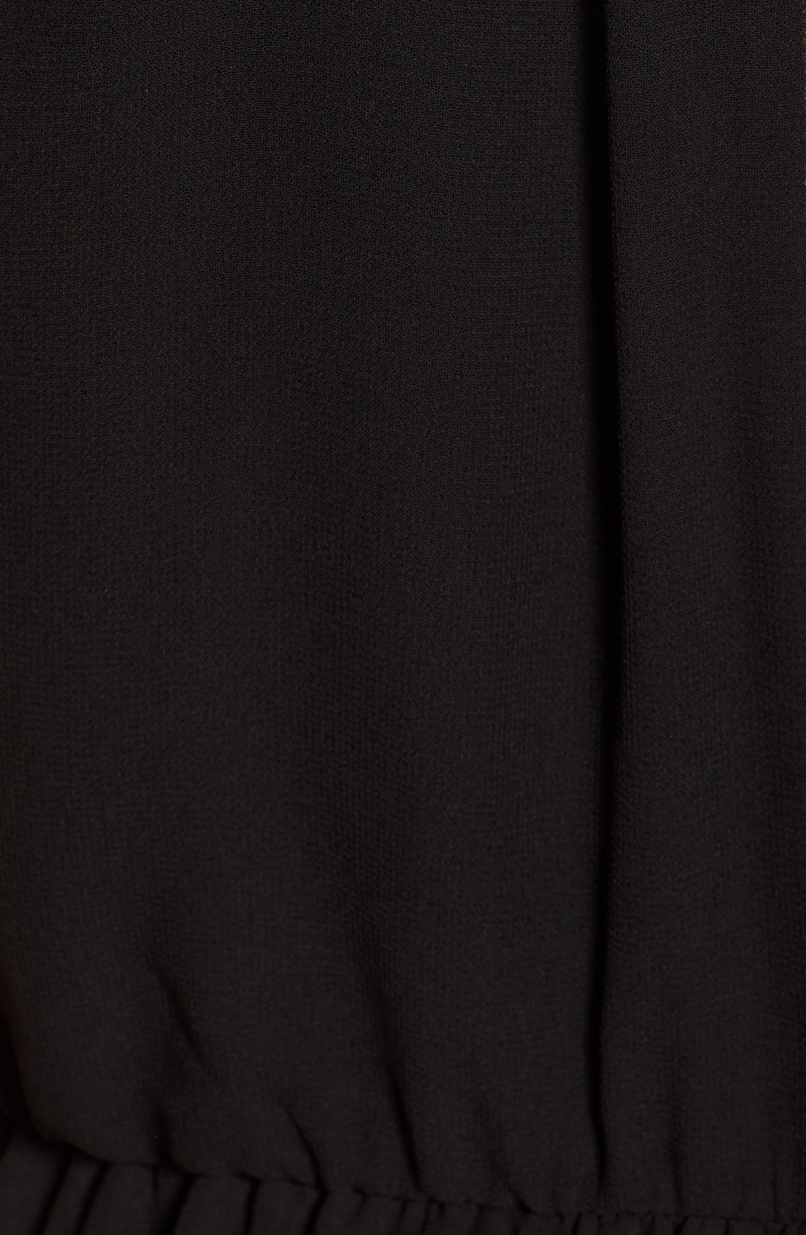 Blouson Chiffon Skater Dress,                             Alternate thumbnail 7, color,                             001