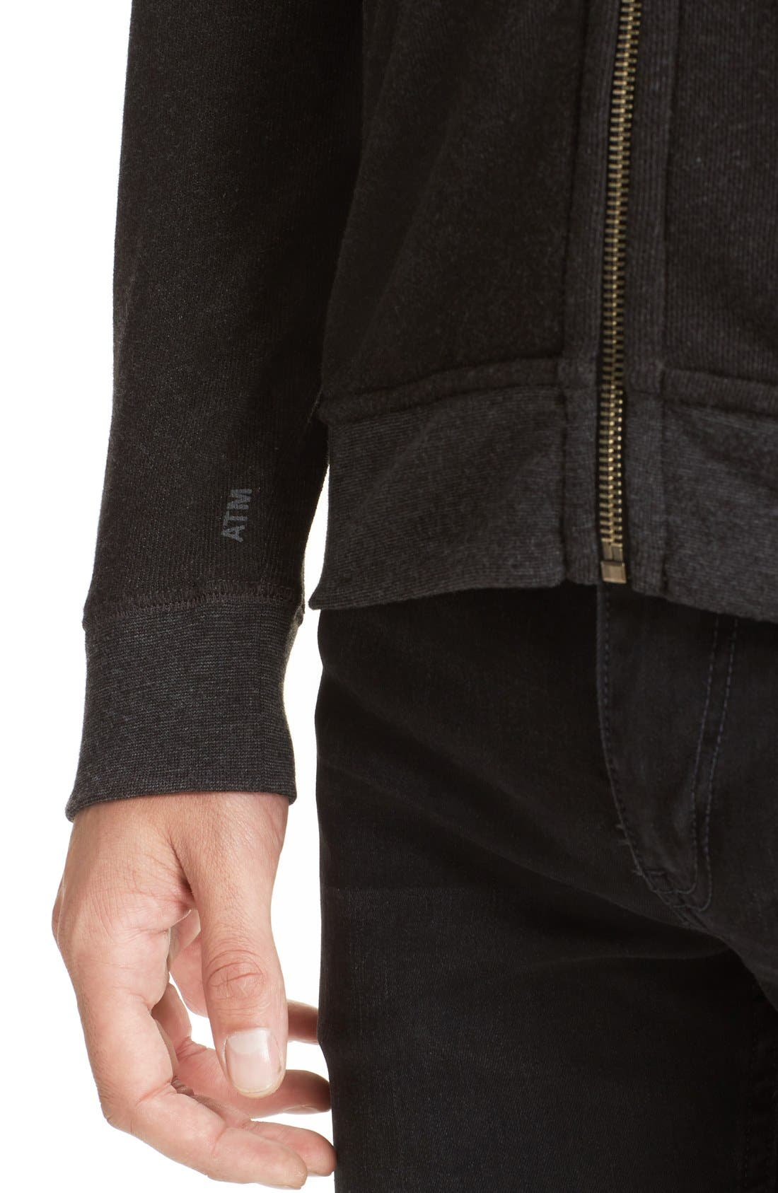 French Terry Full Zip Hoodie,                             Alternate thumbnail 5, color,                             021