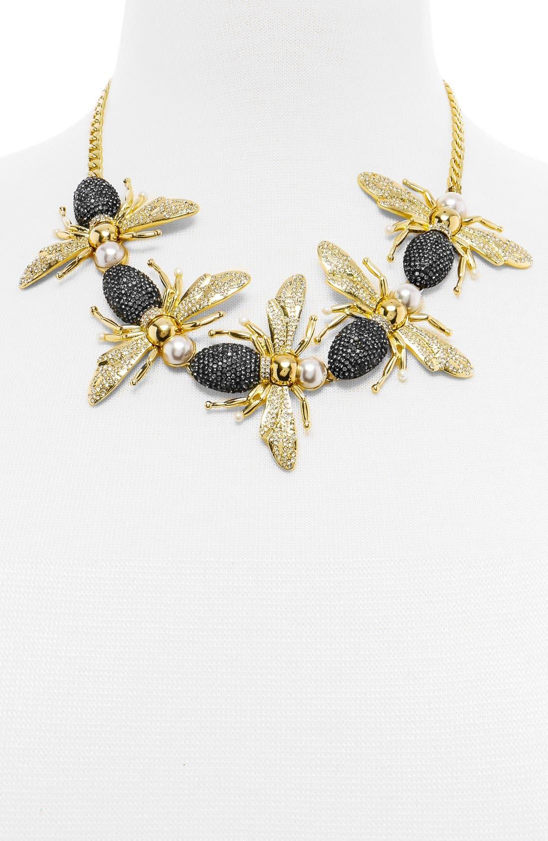 'Queen Bee' Collar Necklace,                             Alternate thumbnail 3, color,                             710