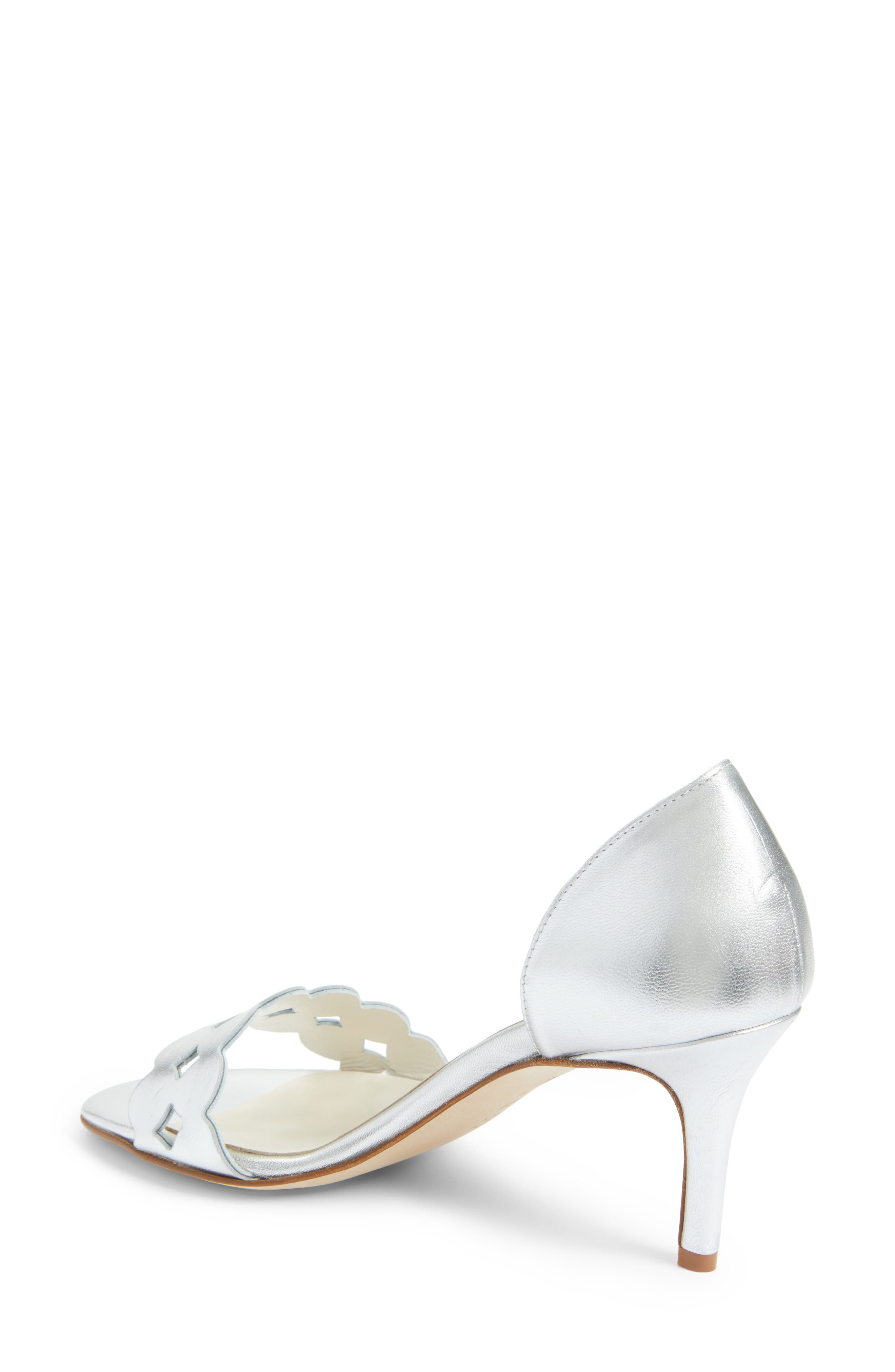 Catherine Cutout Sandal,                             Alternate thumbnail 2, color,                             SILVER METALLIC NAPPA