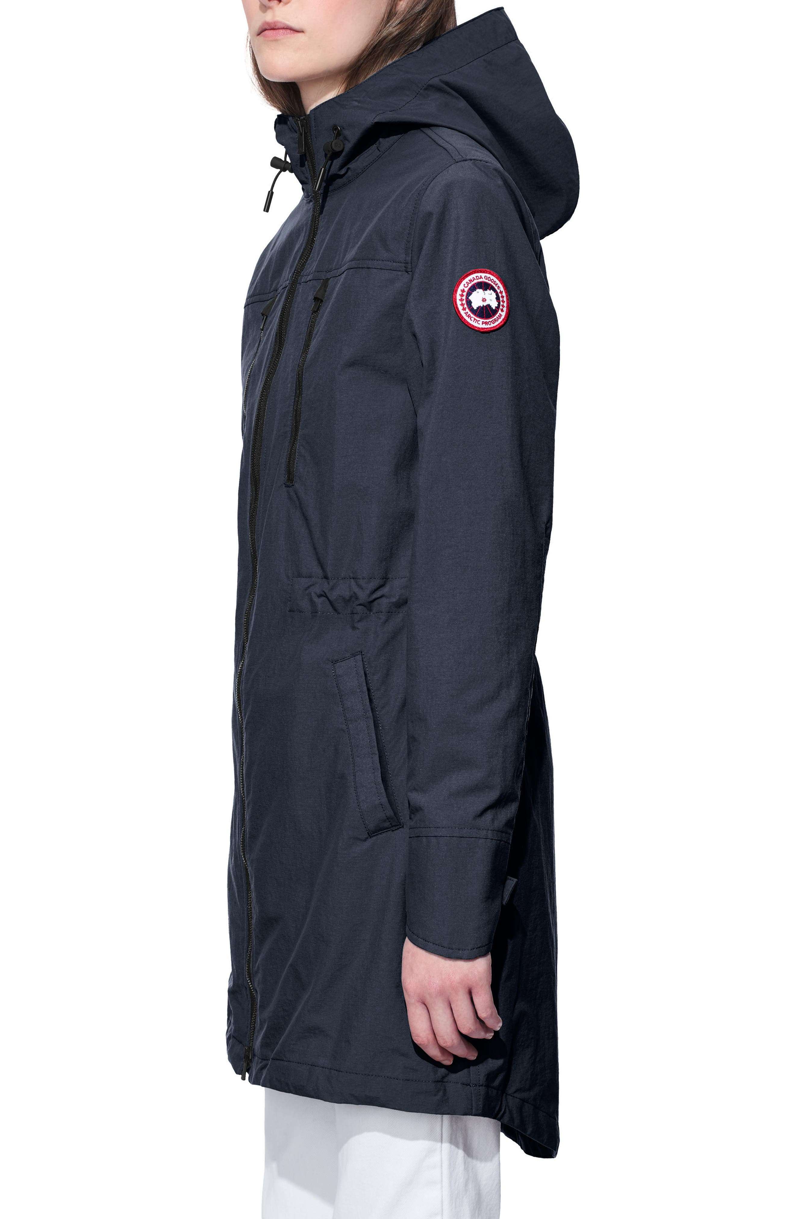 Brossard Hooded Drop Tail Jacket,                             Alternate thumbnail 9, color,