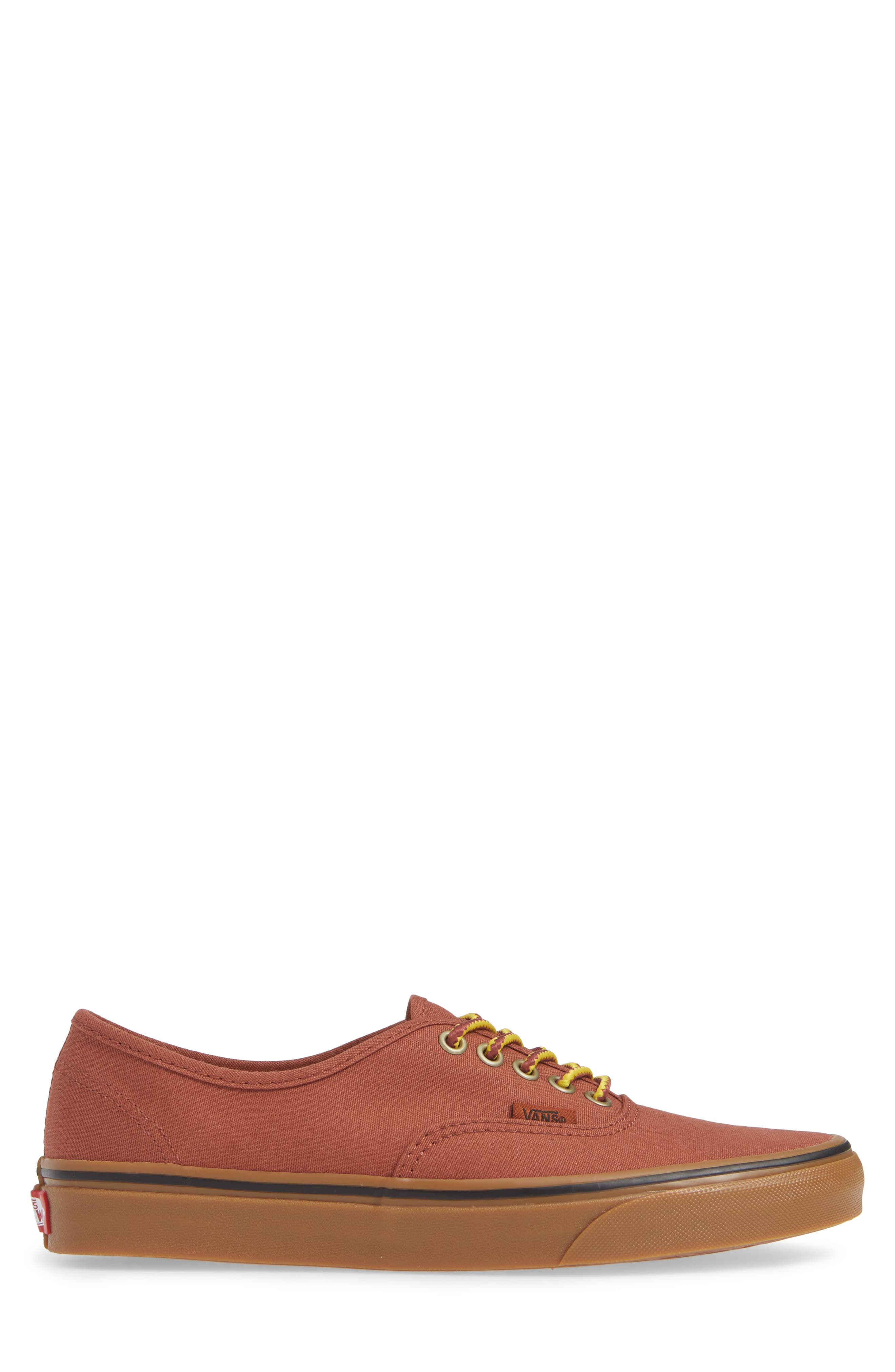 Authentic Sneaker,                             Alternate thumbnail 3, color,                             SEQUOIA/ BROWN