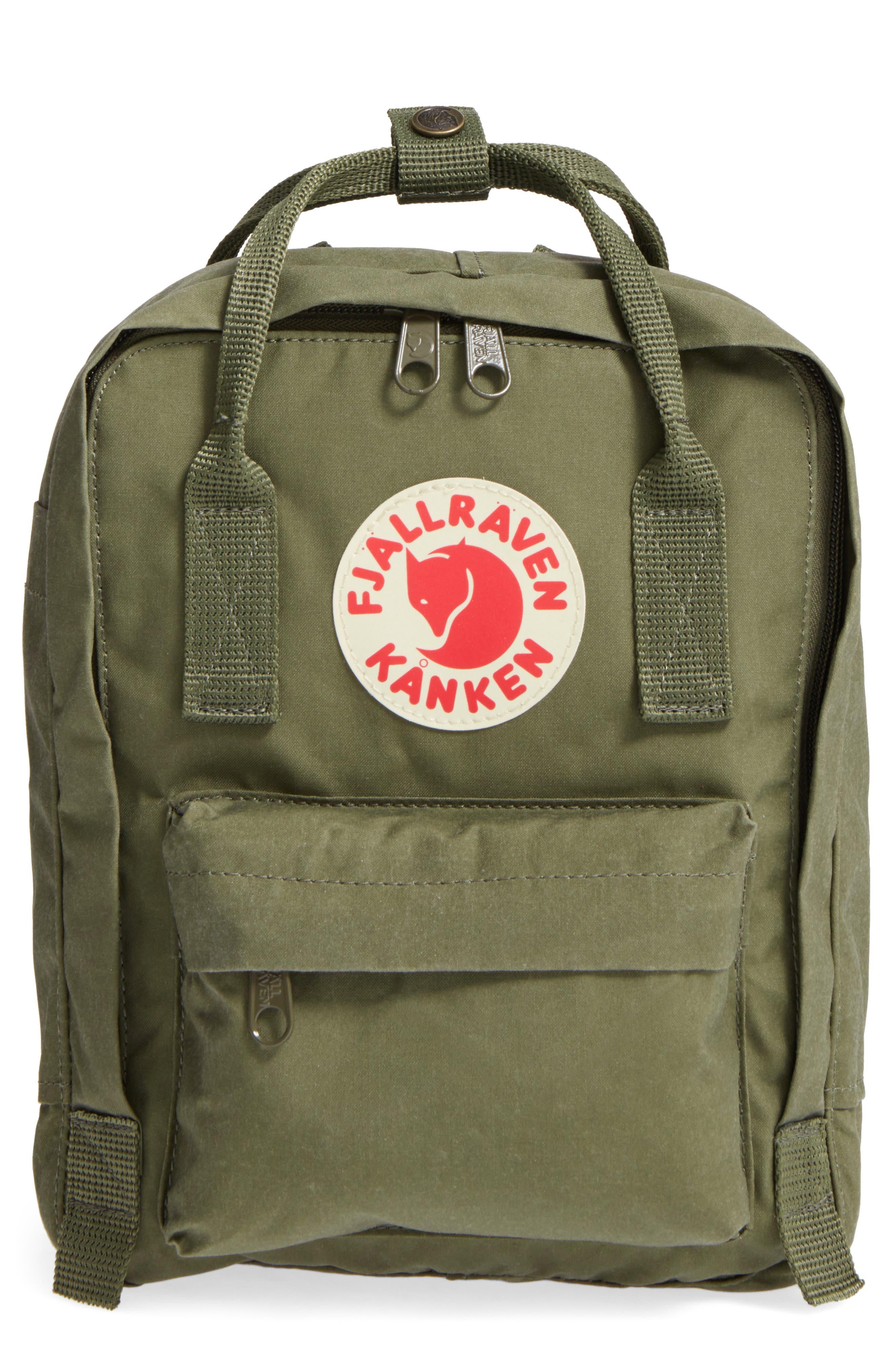 'Mini Kånken' Water Resistant Backpack,                             Main thumbnail 1, color,                             GREEN