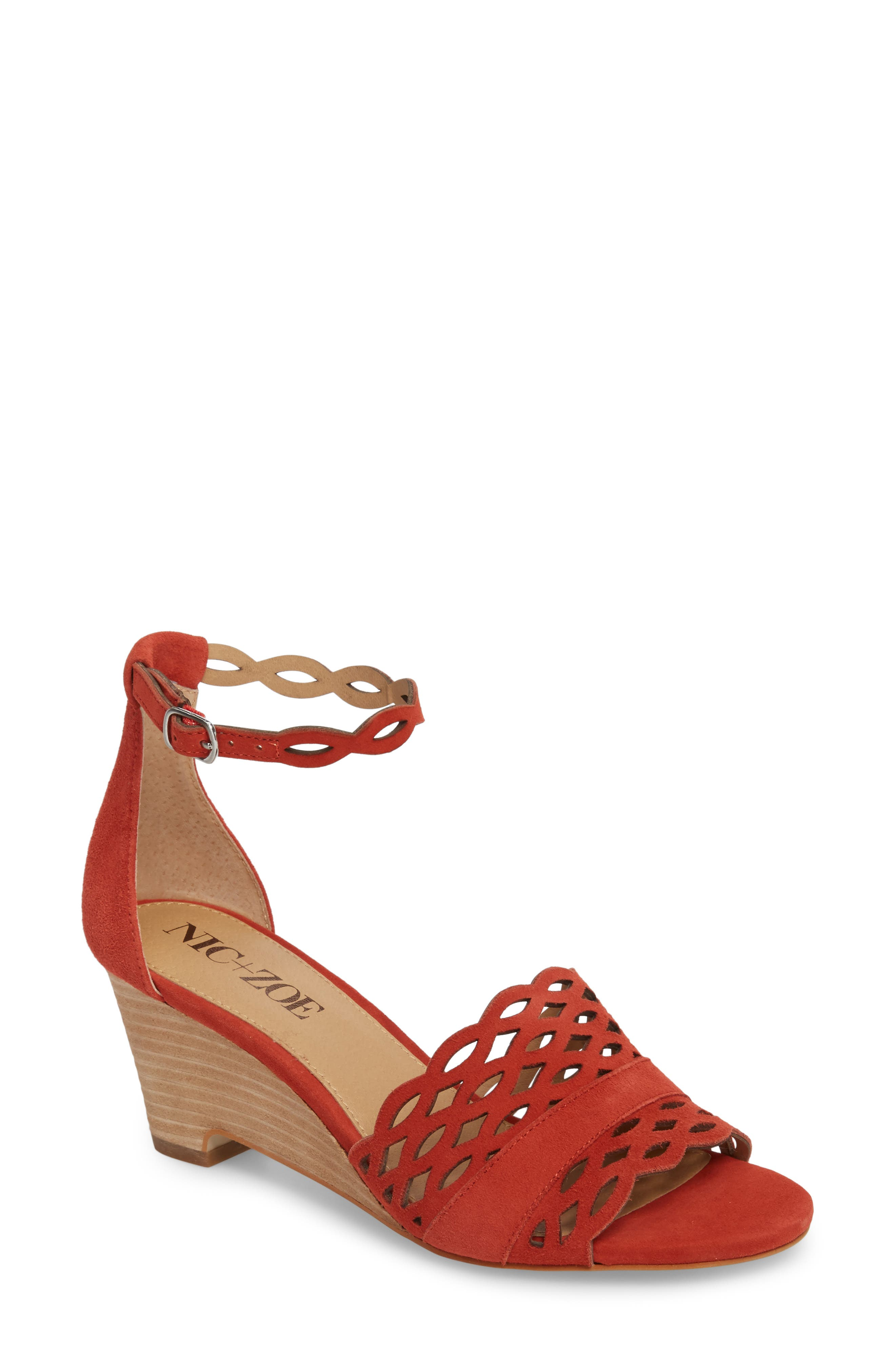 Nic+Zoe Flora Wedge Sandal, Red