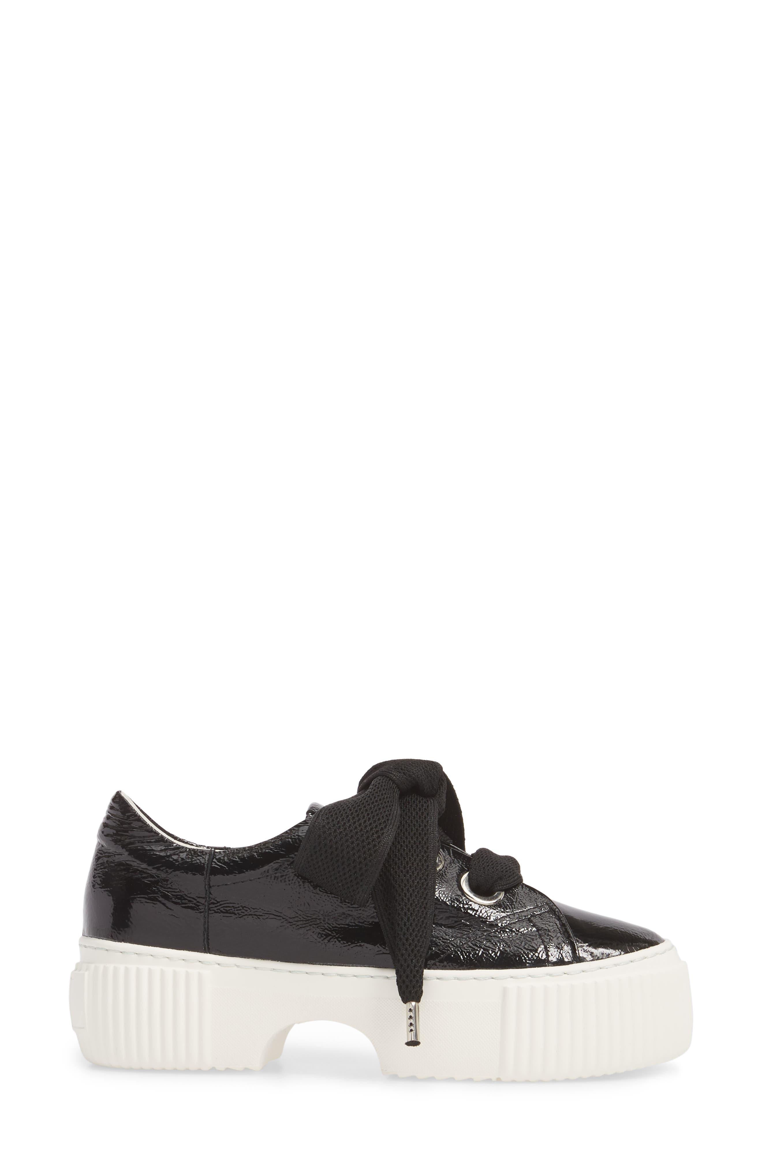 Platform Sneaker,                             Alternate thumbnail 3, color,                             001