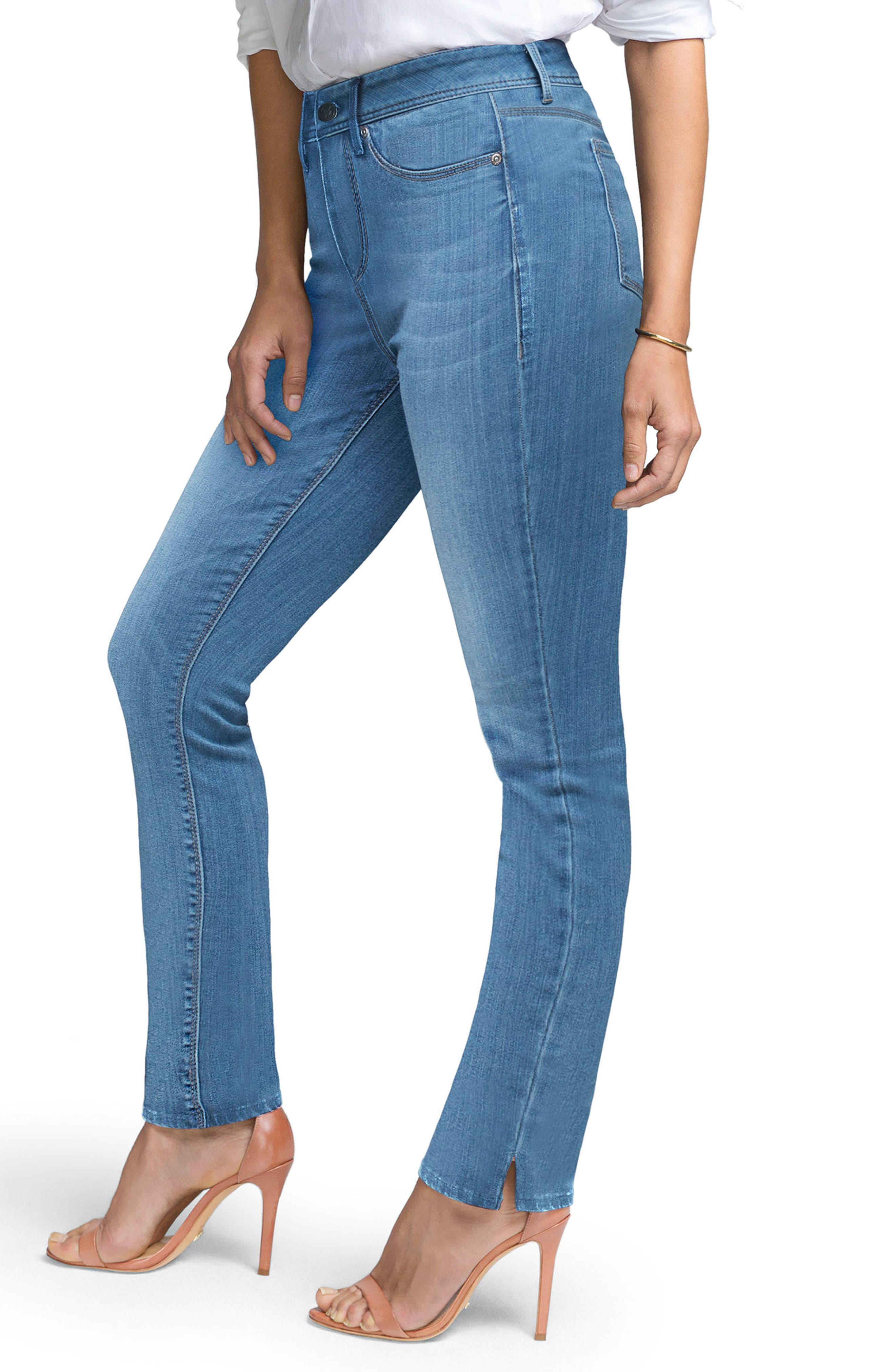 Slim Straight Leg Jeans,                             Alternate thumbnail 3, color,                             ILIAD
