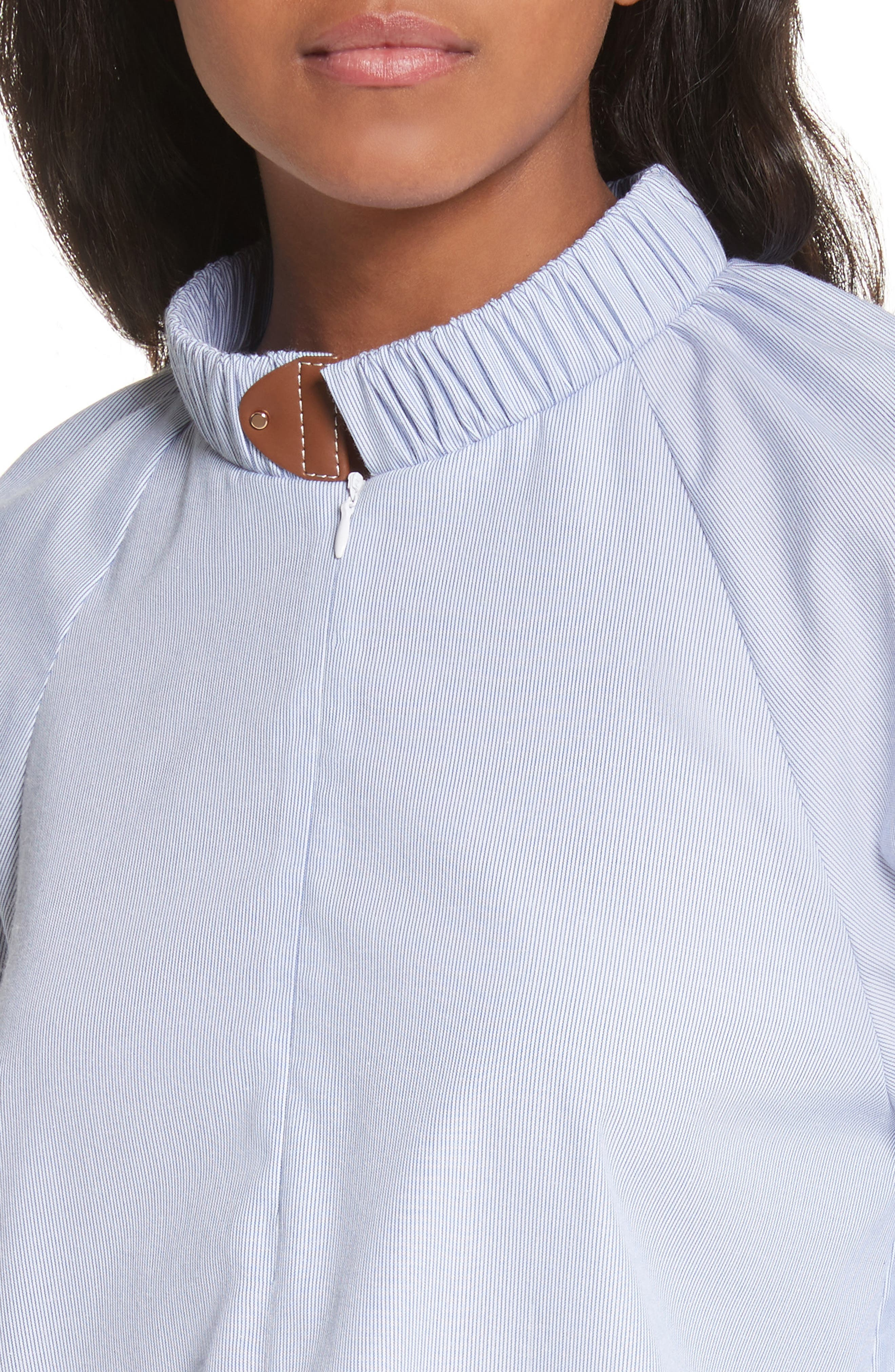 Pinstripe Easy Tunic,                             Alternate thumbnail 4, color,