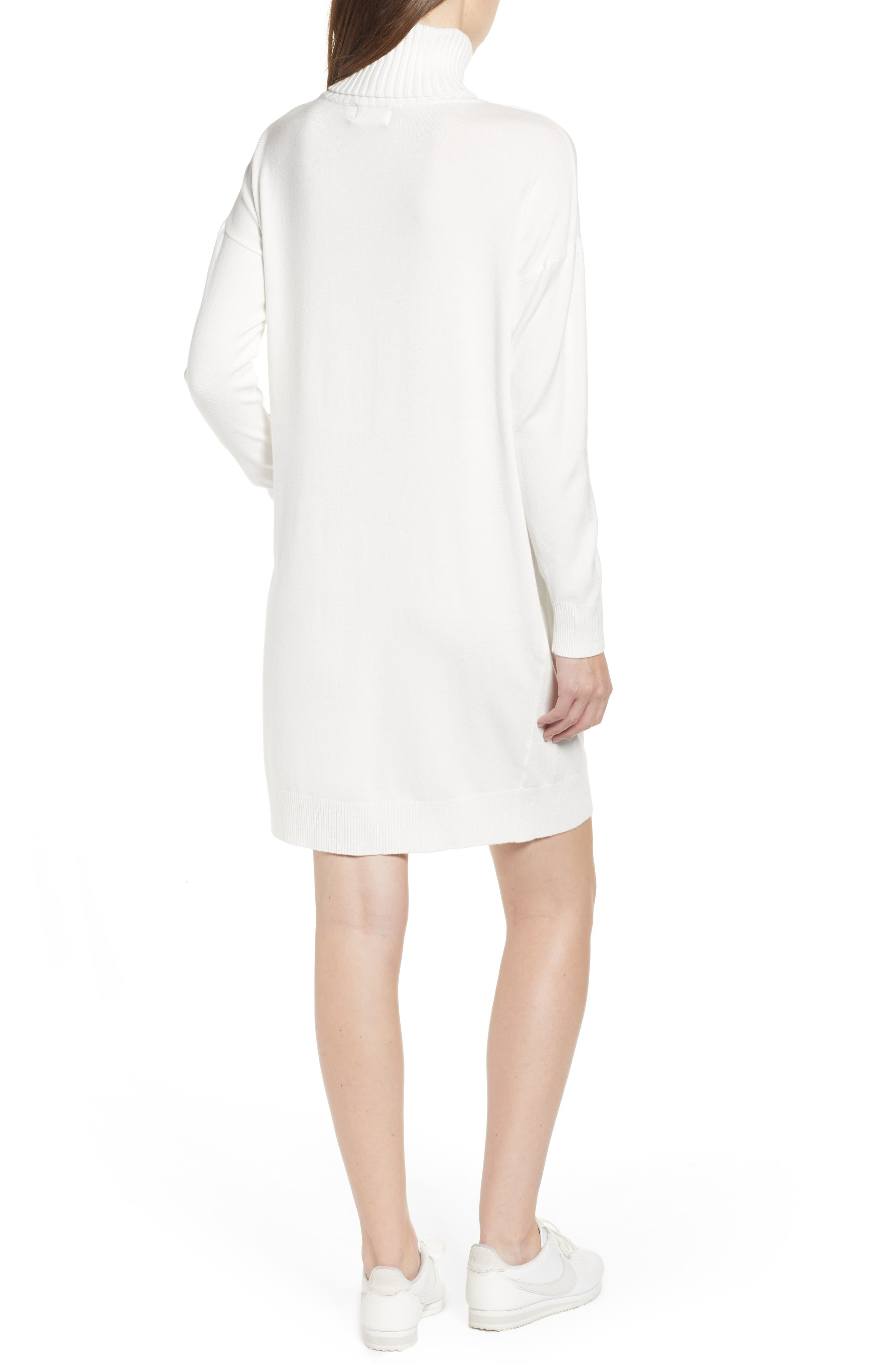 Turtleneck Sweater Dress,                             Alternate thumbnail 2, color,                             IVORY