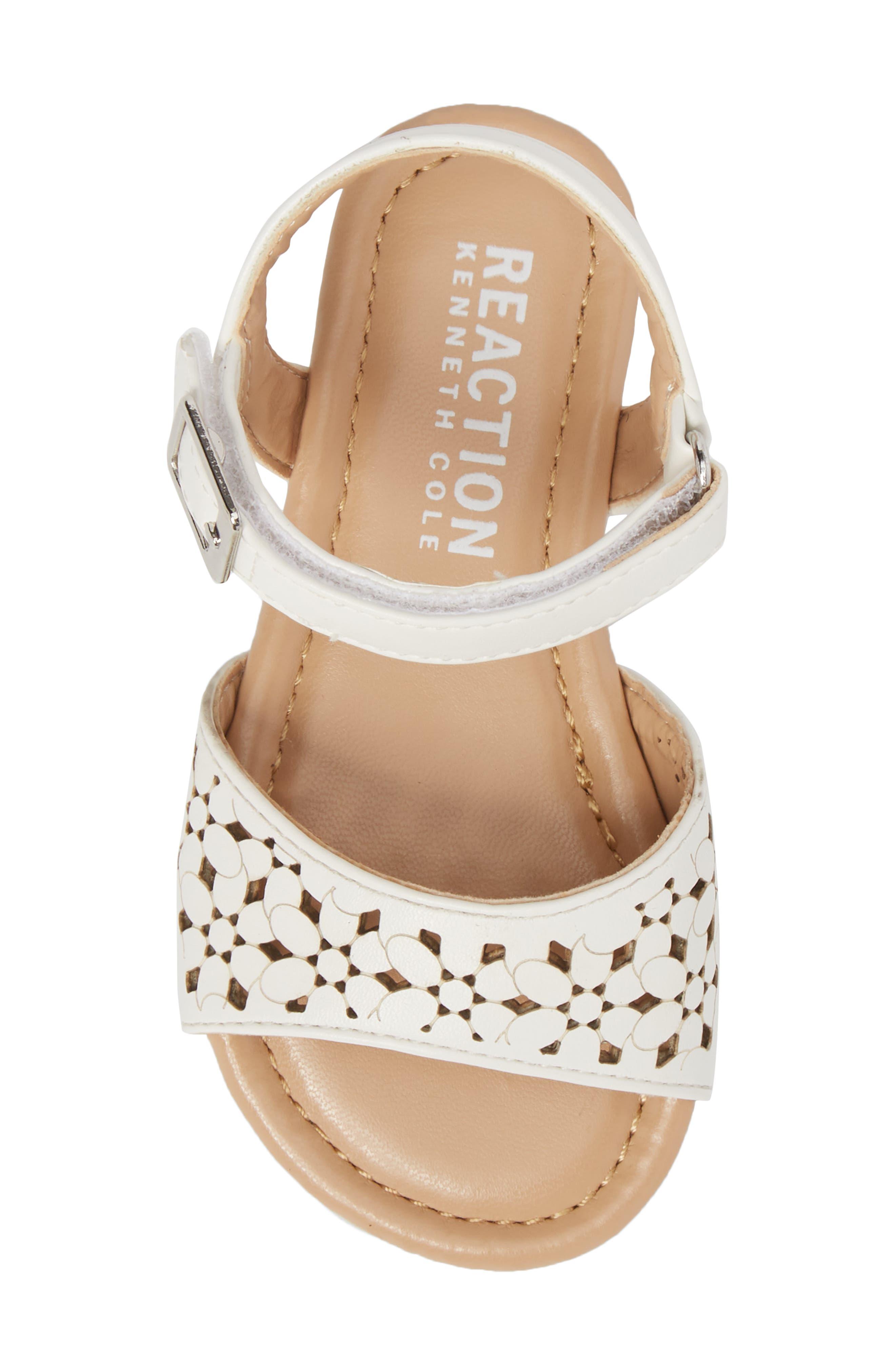 Kiera Perforated Sandal,                             Alternate thumbnail 5, color,                             100