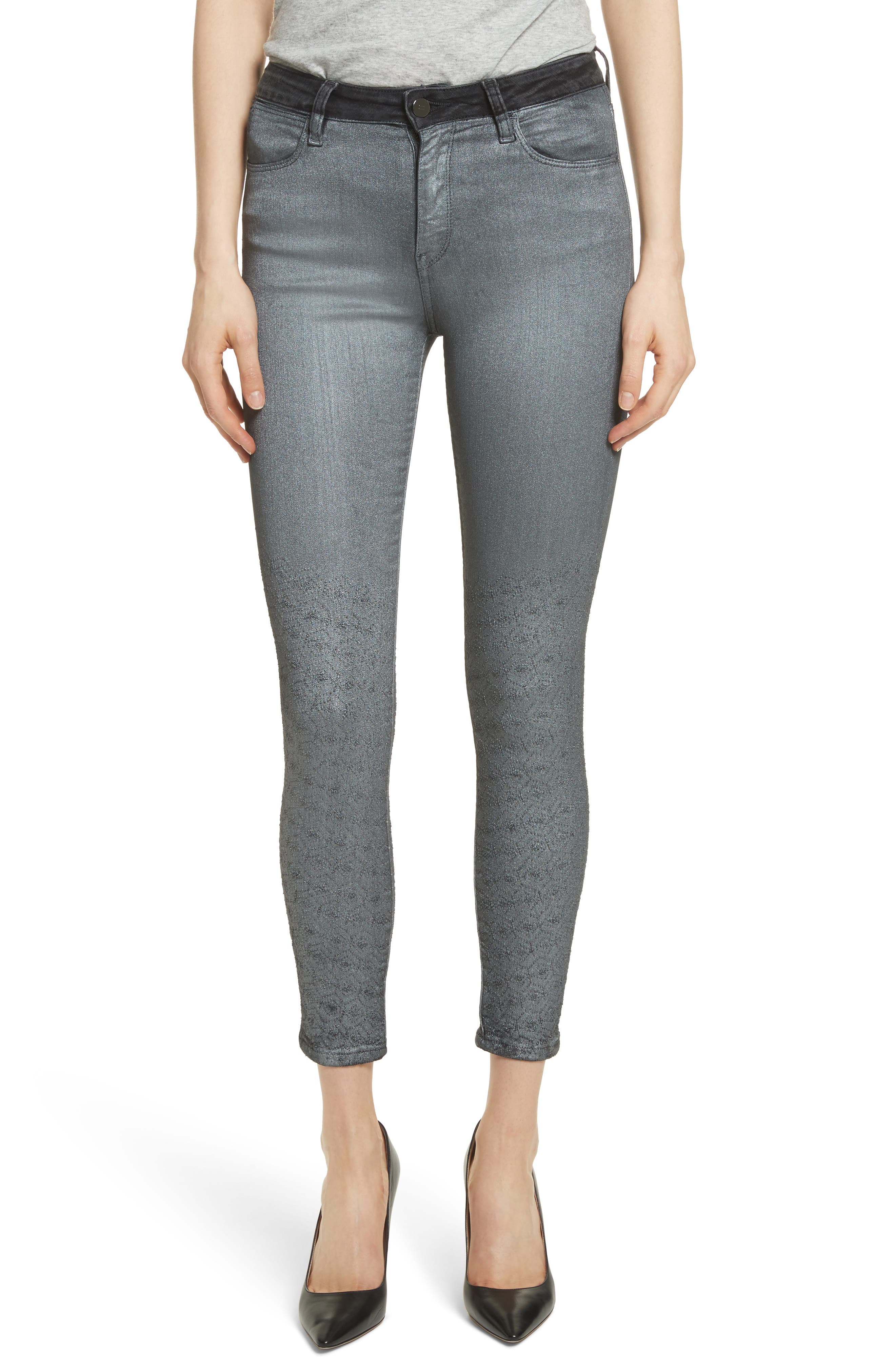 Reina Glitter Skinny Jeans,                         Main,                         color, 004