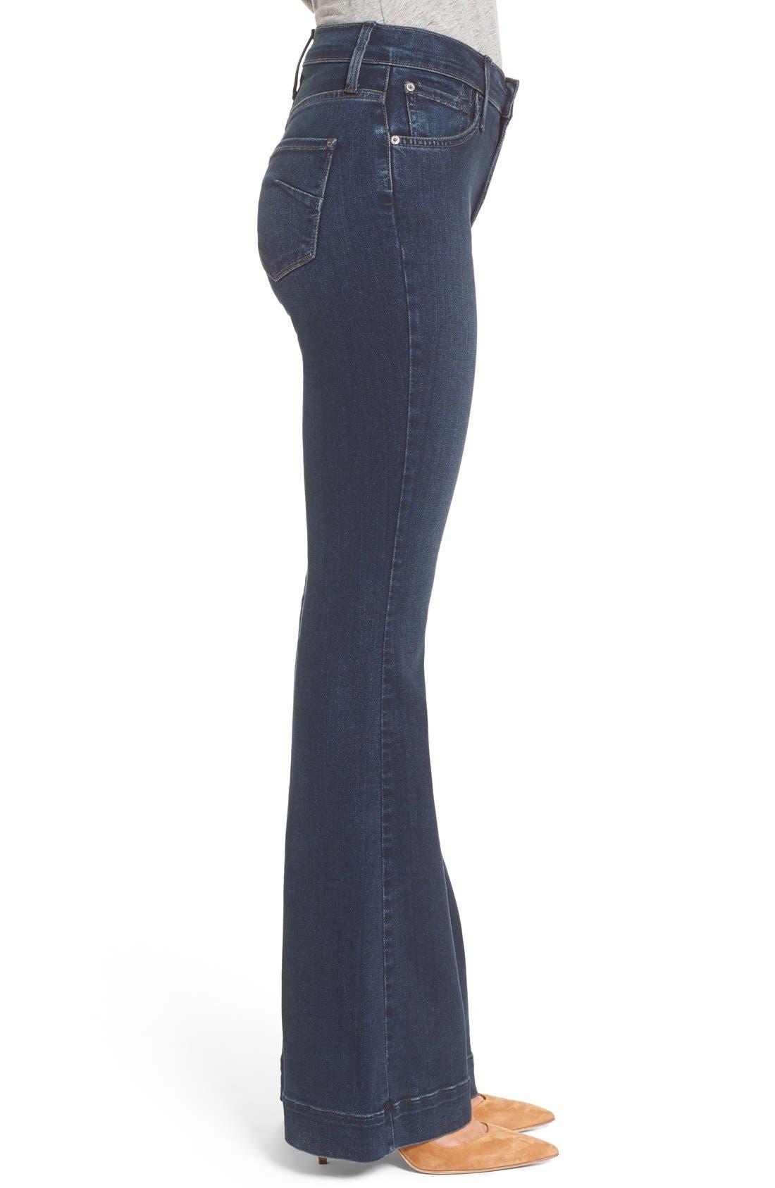 JAMES JEANS,                             'Shayebel' Flare Denim Trousers,                             Alternate thumbnail 3, color,                             401
