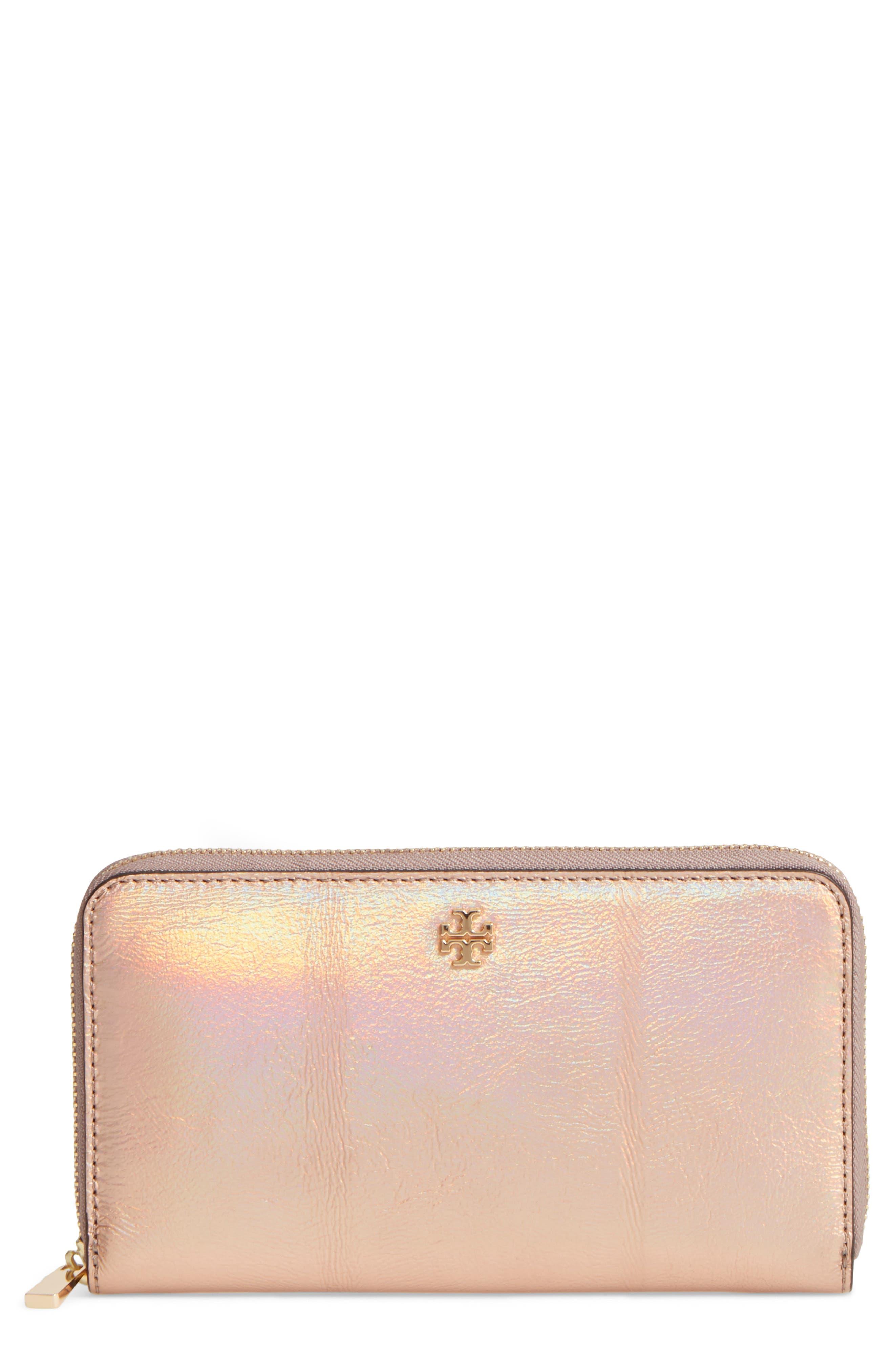 Robinson Metallic Leather Continental Wallet,                             Main thumbnail 1, color,                             654