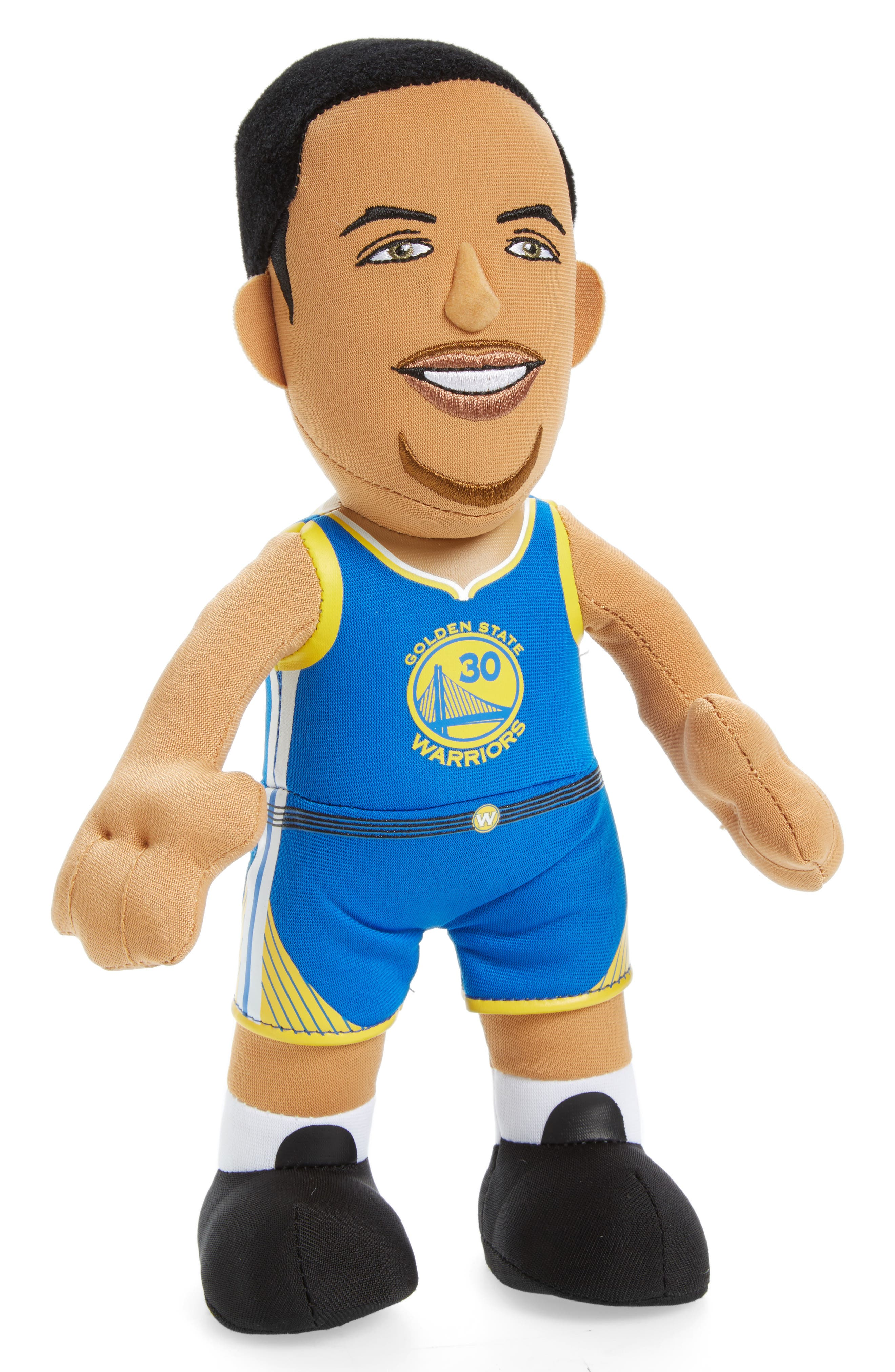 BLEACHER CREATURES Golden State Warriors Steph Curry Plush Toy, Main, color, 499