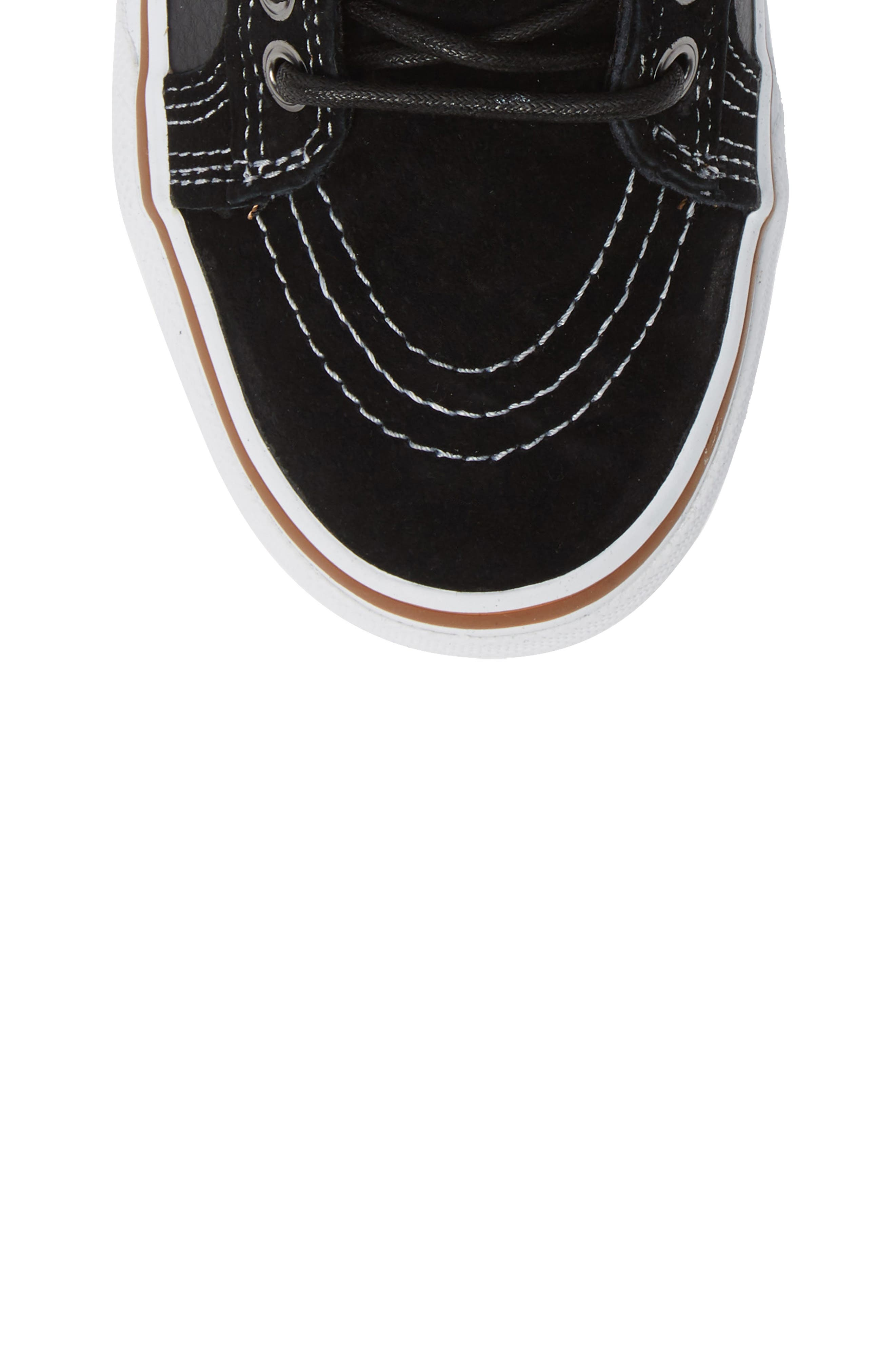 Sk-8 Hi MTE Sneaker,                             Alternate thumbnail 5, color,                             LEATHER/ BLACK/ TRUE WHITE