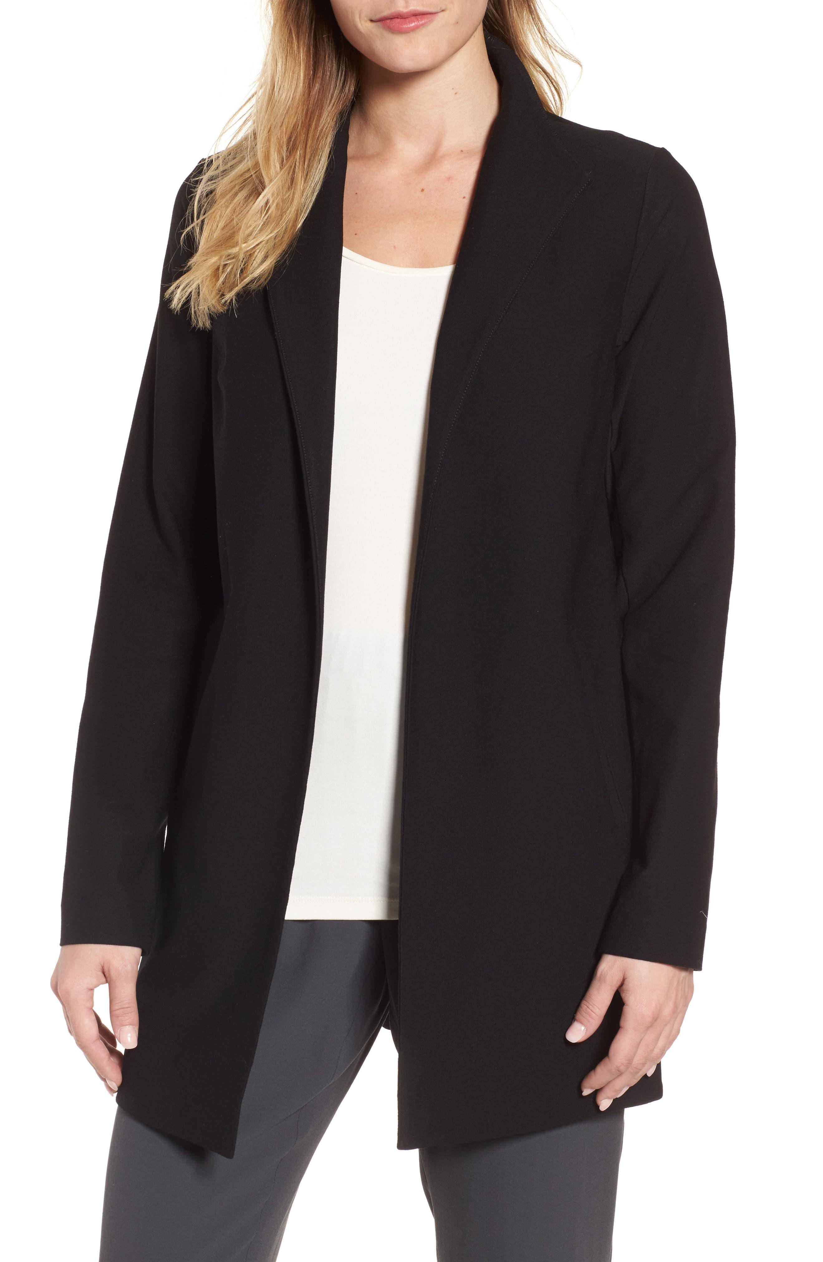Long Knit Jacket,                         Main,                         color, 001
