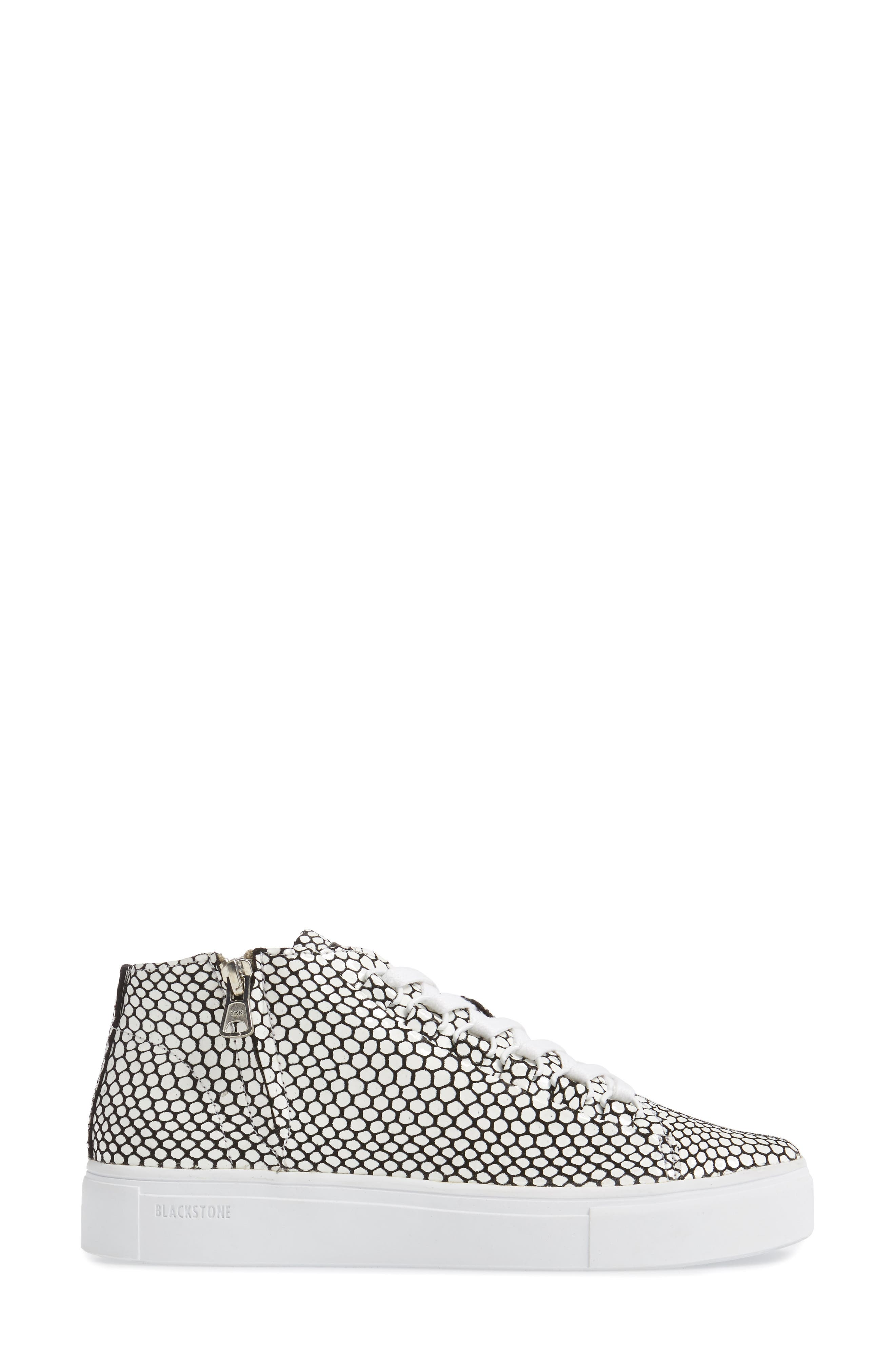 NL30 Midi Sneaker,                             Alternate thumbnail 3, color,                             WHITE HONEY LEATHER