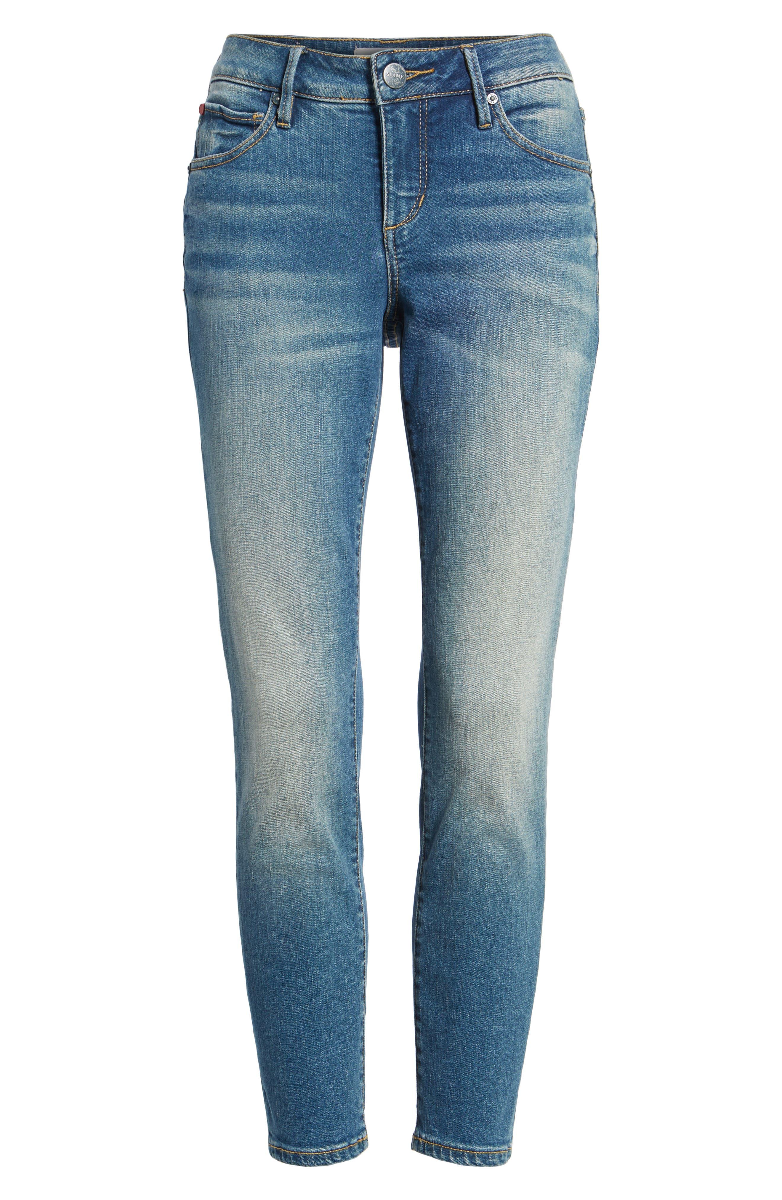 Boyfriend Ankle Jeans,                             Alternate thumbnail 6, color,                             BIRDY