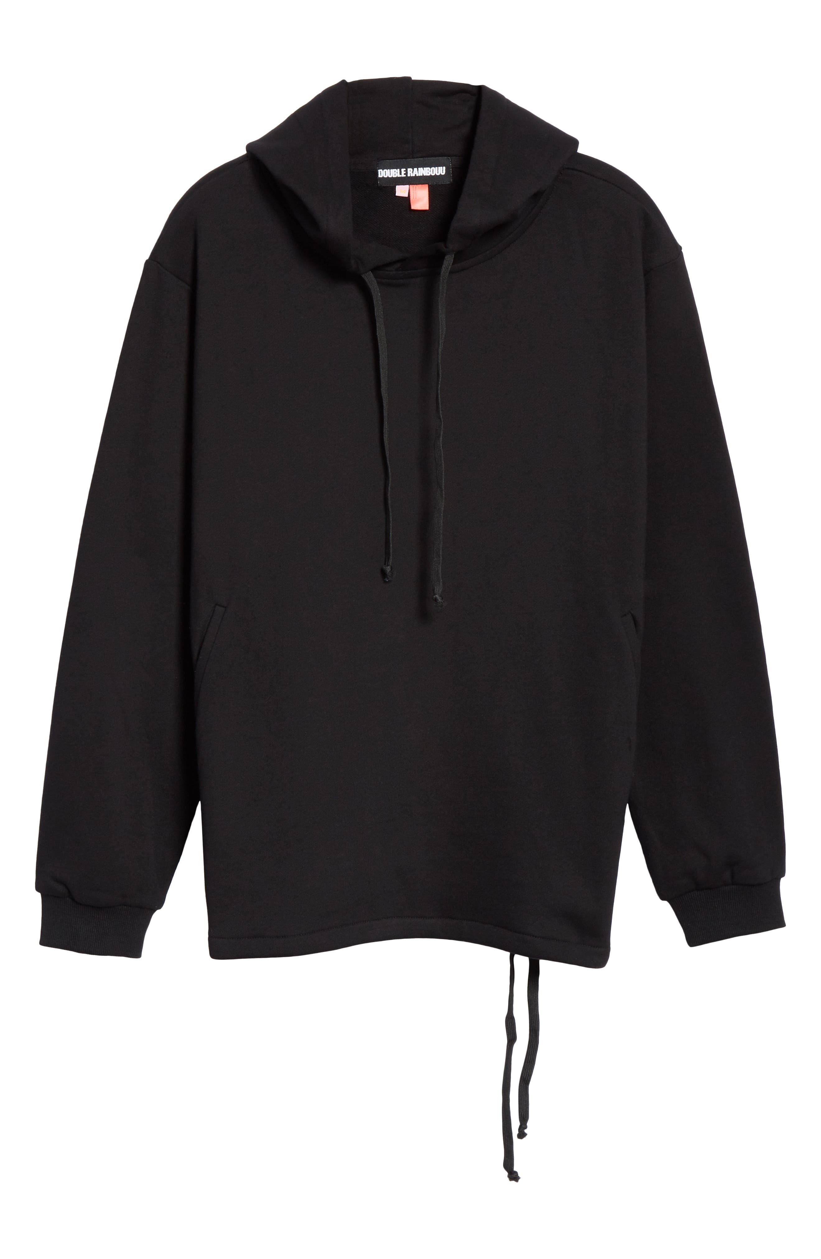 Moon Couch Surf Hoodie,                             Alternate thumbnail 6, color,                             BLACK