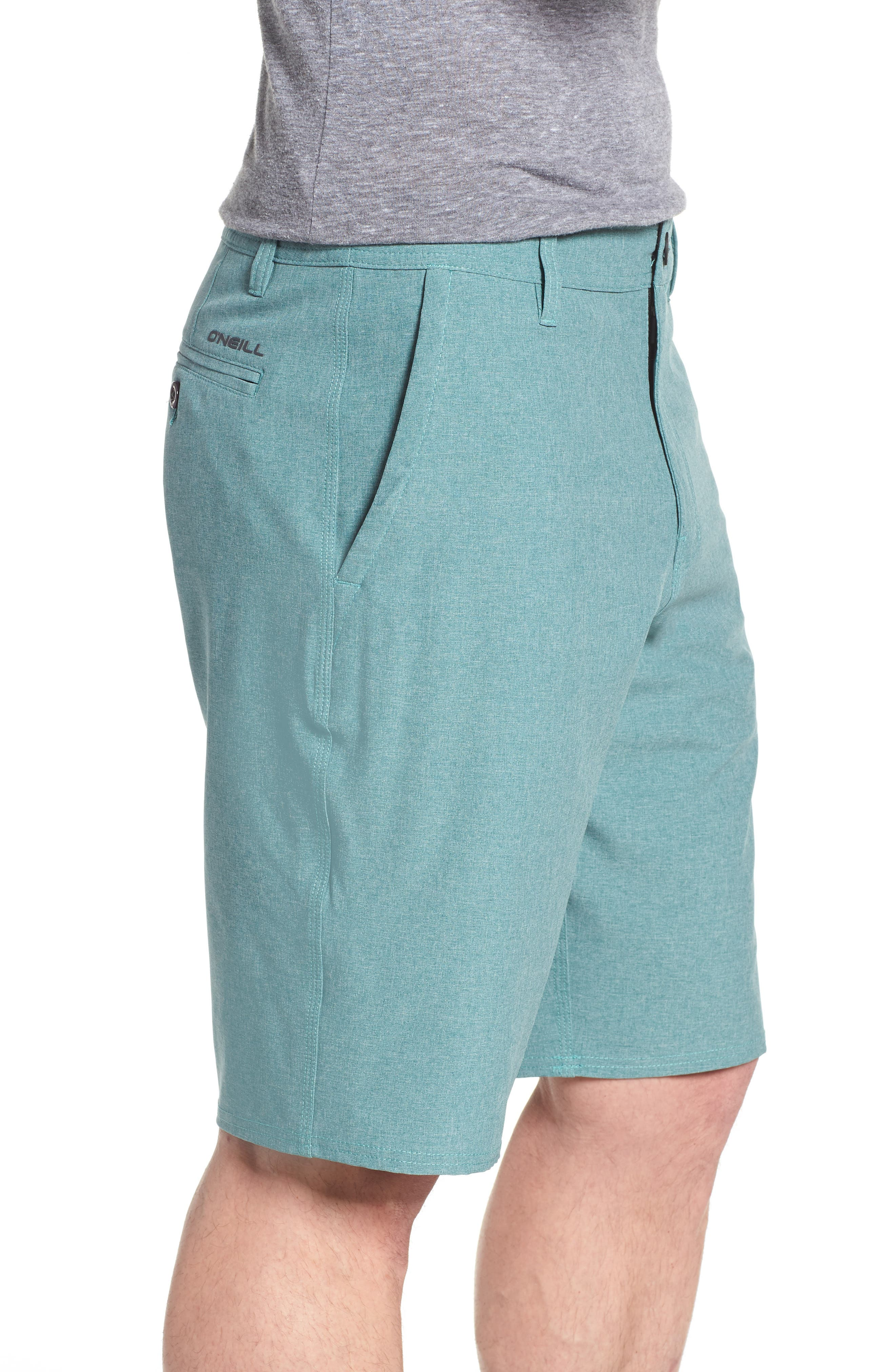 Loaded Heather Hybrid Shorts,                             Alternate thumbnail 3, color,                             300