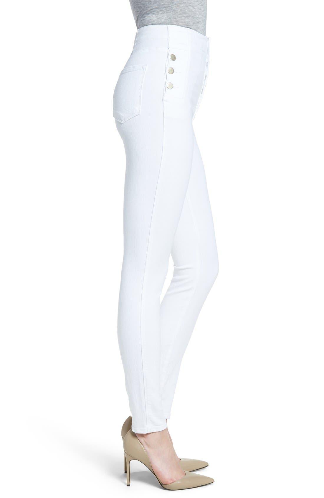 'Natasha Sky High' High Rise Skinny Jeans,                             Alternate thumbnail 6, color,                             100