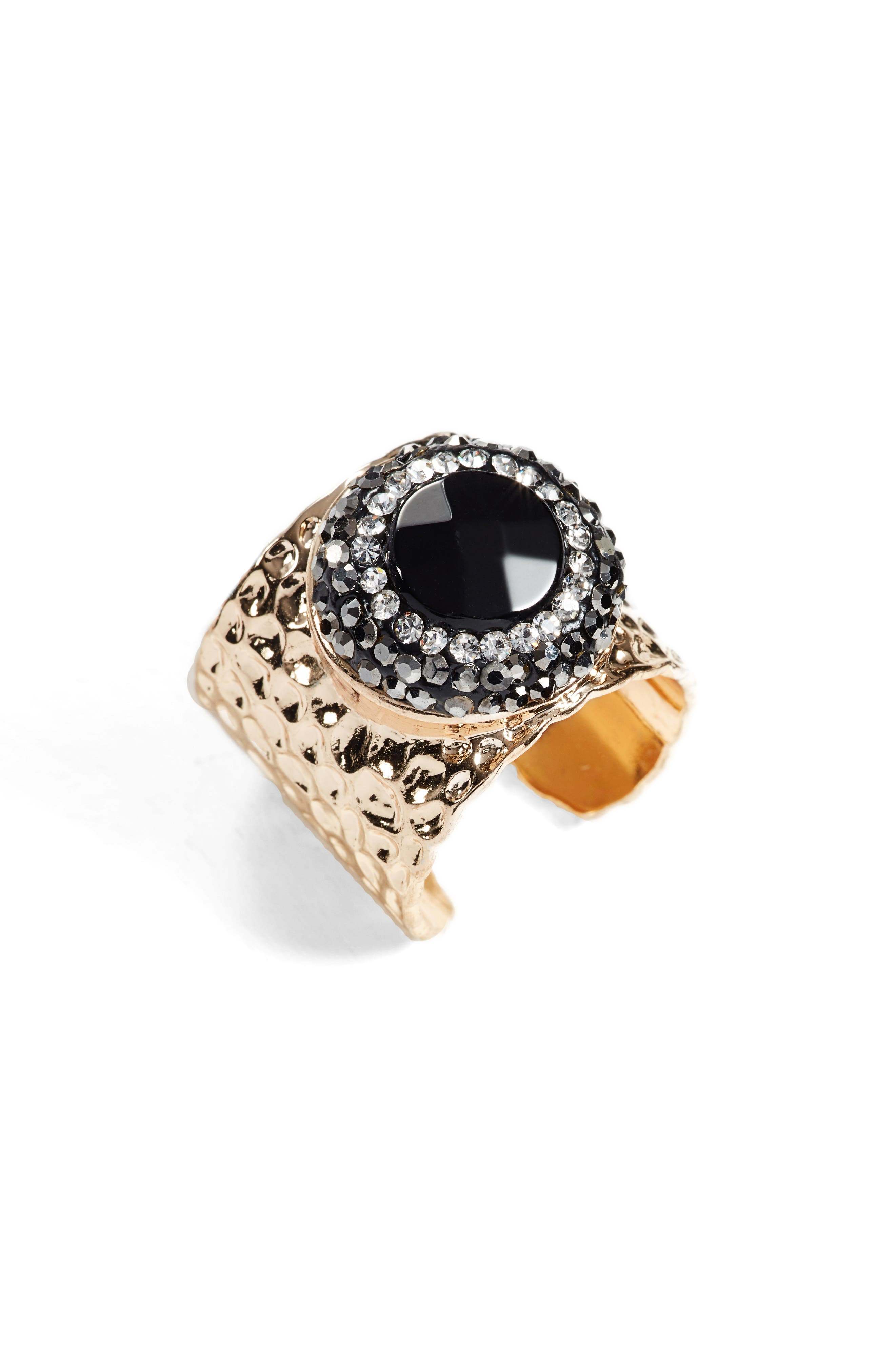 Reece Agate Adjustable Ring,                             Main thumbnail 1, color,                             001
