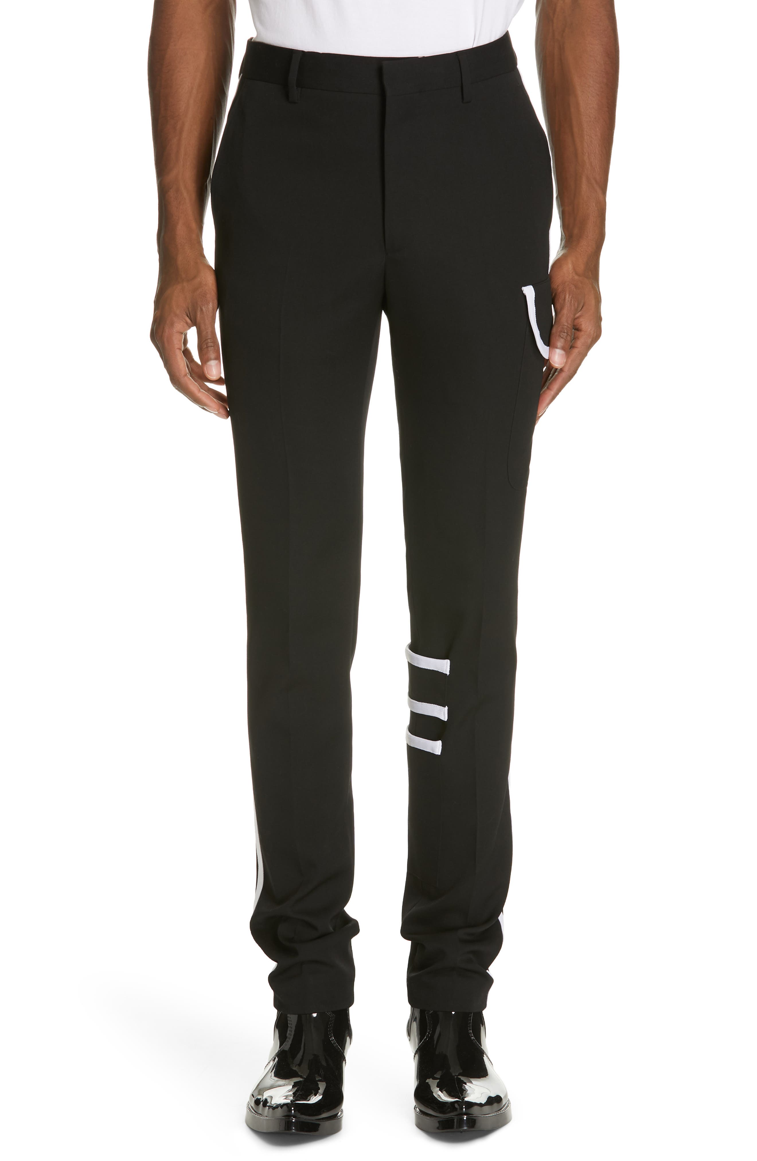 Calvin Klein 205W39Nyc Gabardine Wool Cargo Pants, Black