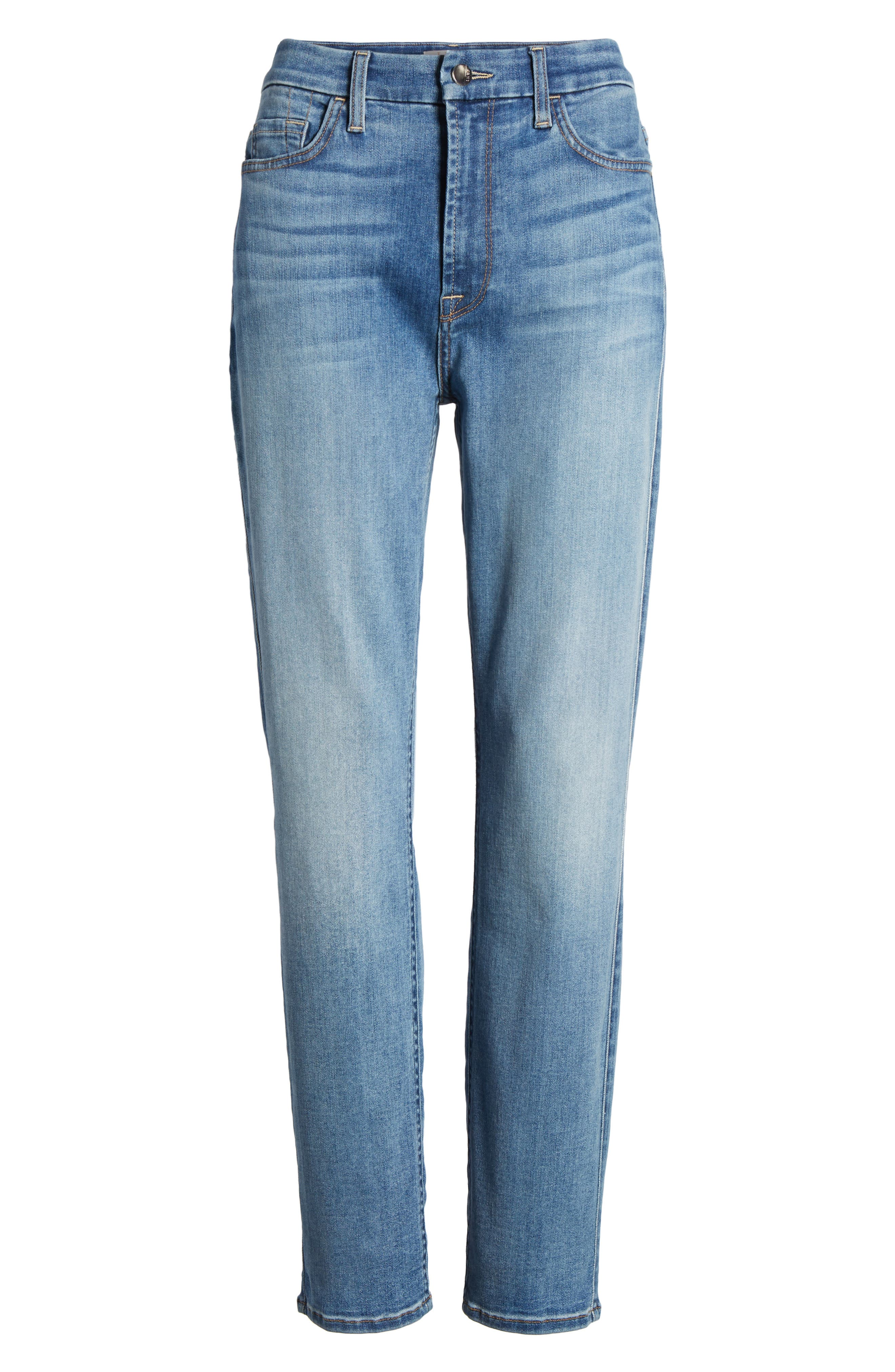 Slim Boyfriend Jeans,                             Alternate thumbnail 7, color,                             SUNLIGHT