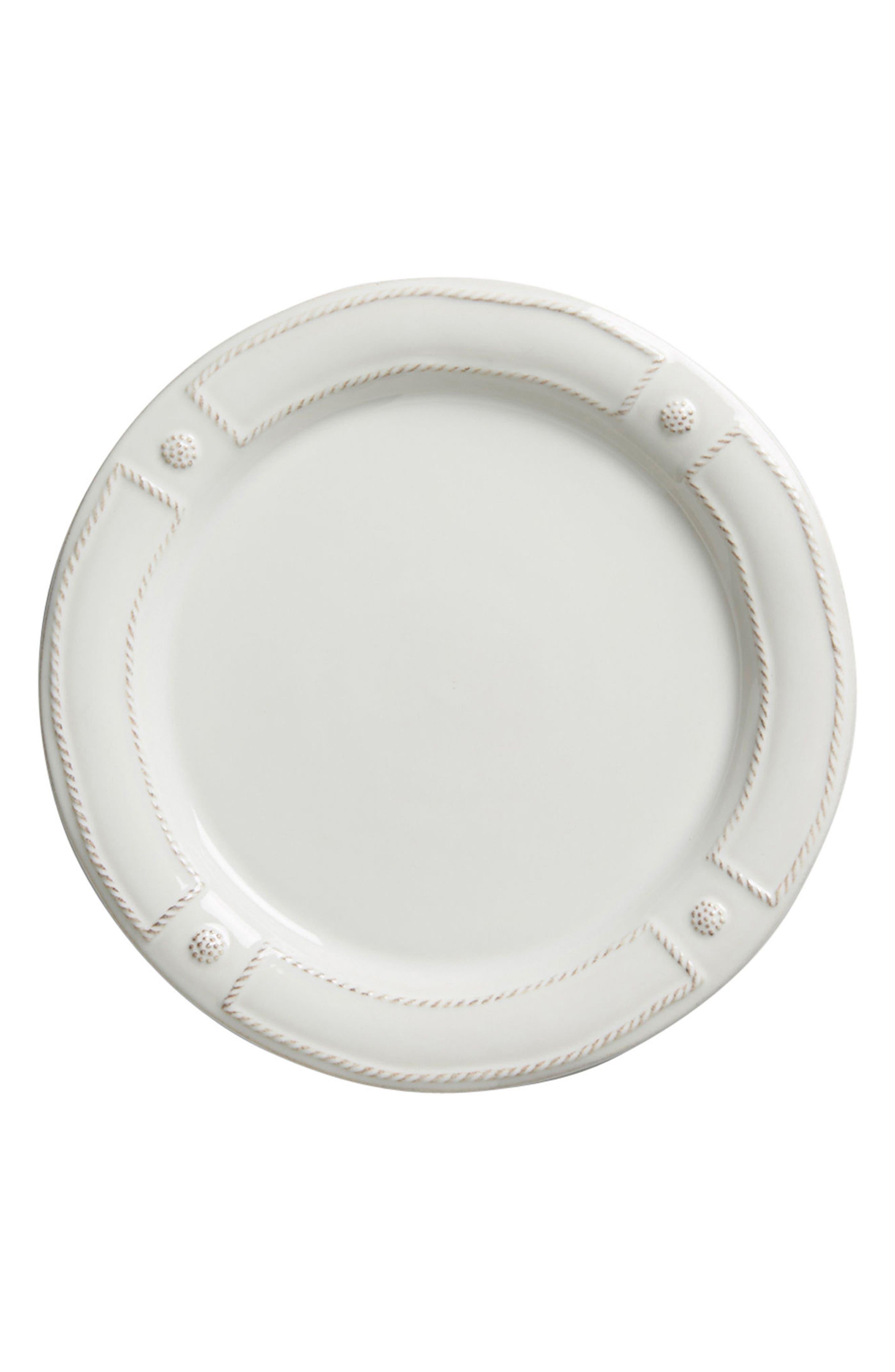 Berry & Thread Dinner Plate,                             Main thumbnail 1, color,                             WHITEWASH