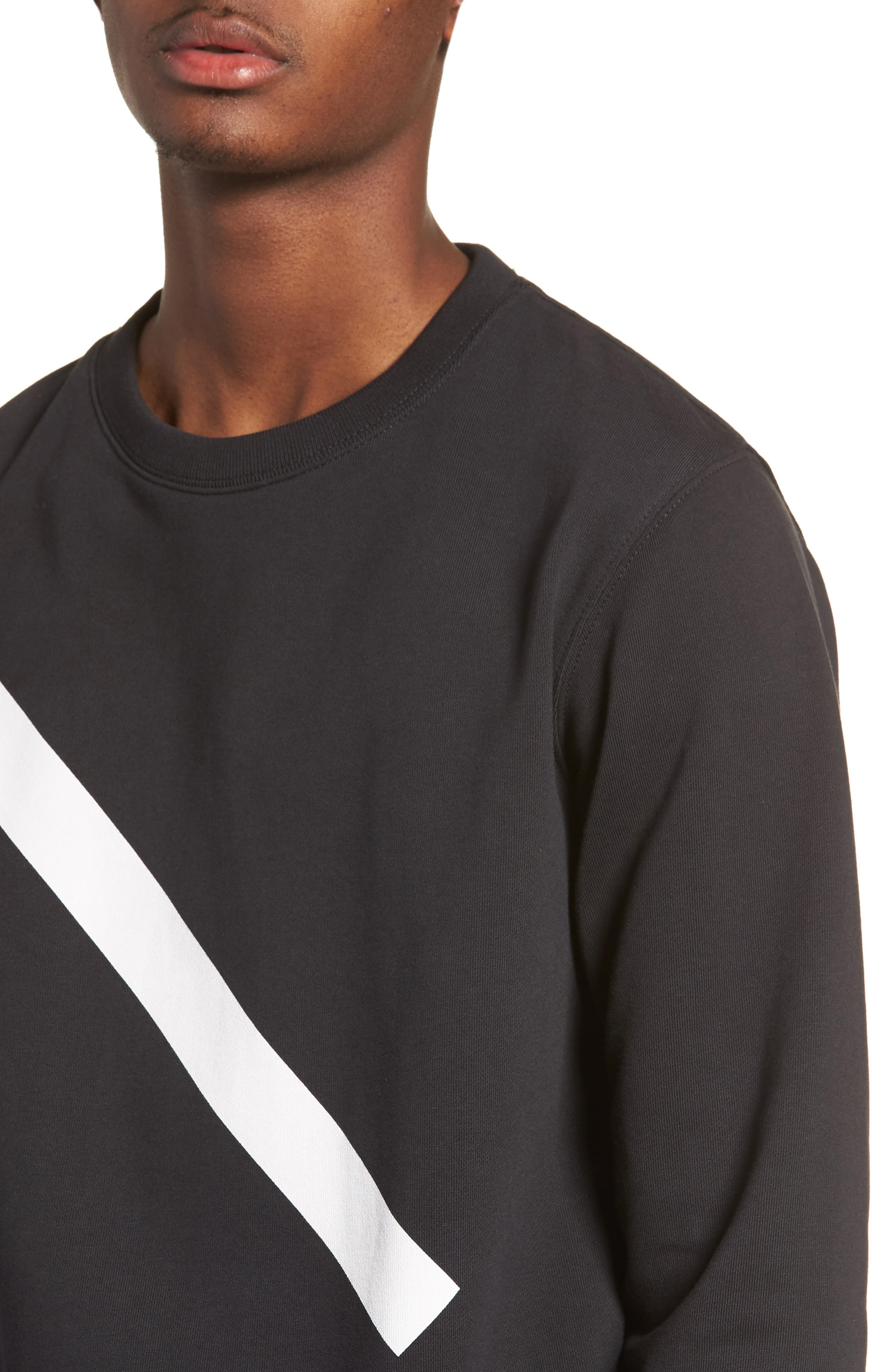 Bowery Slash Sweatshirt,                             Alternate thumbnail 4, color,                             001