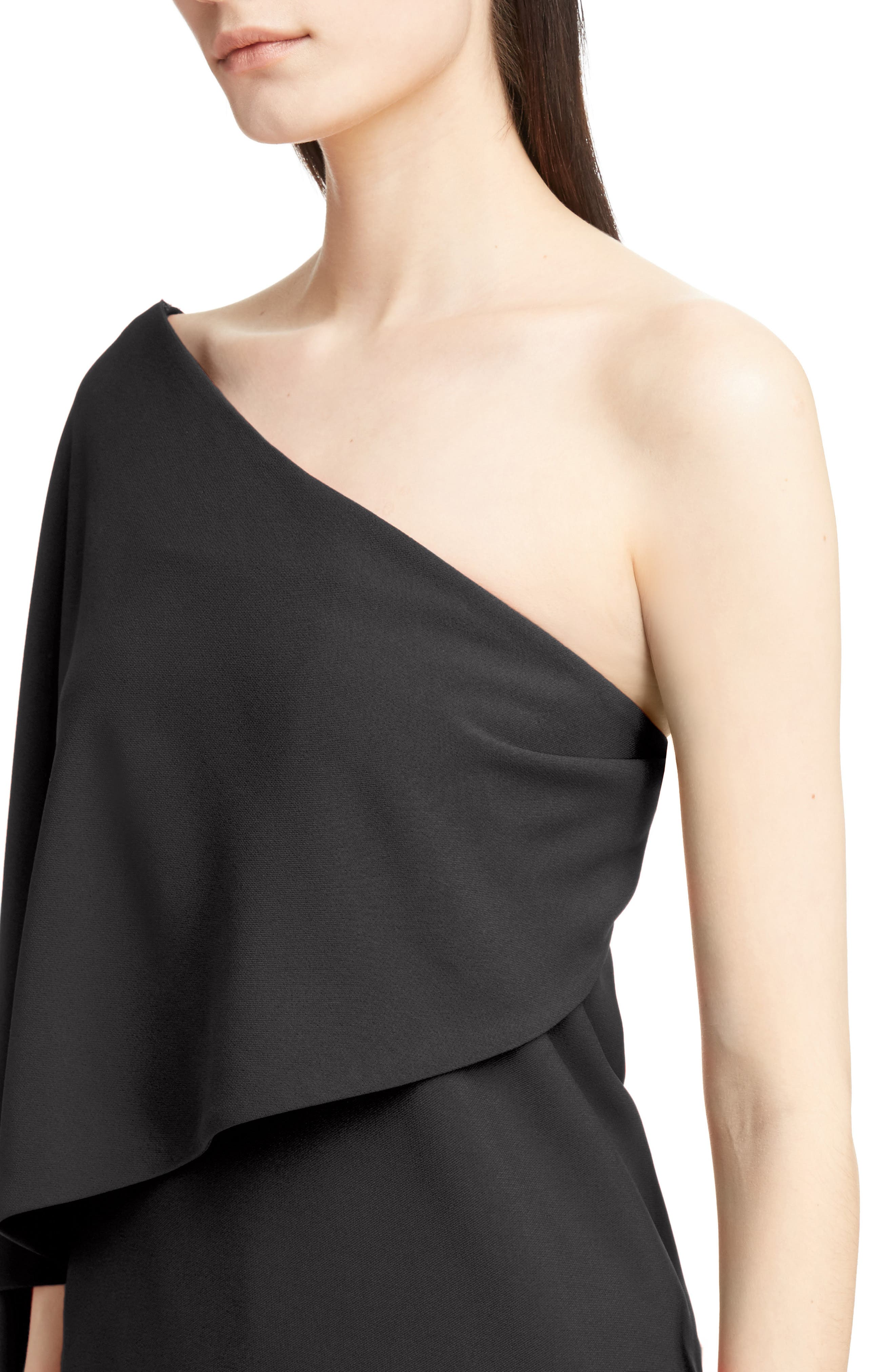 Stretch Cady Cape Dress,                             Alternate thumbnail 4, color,