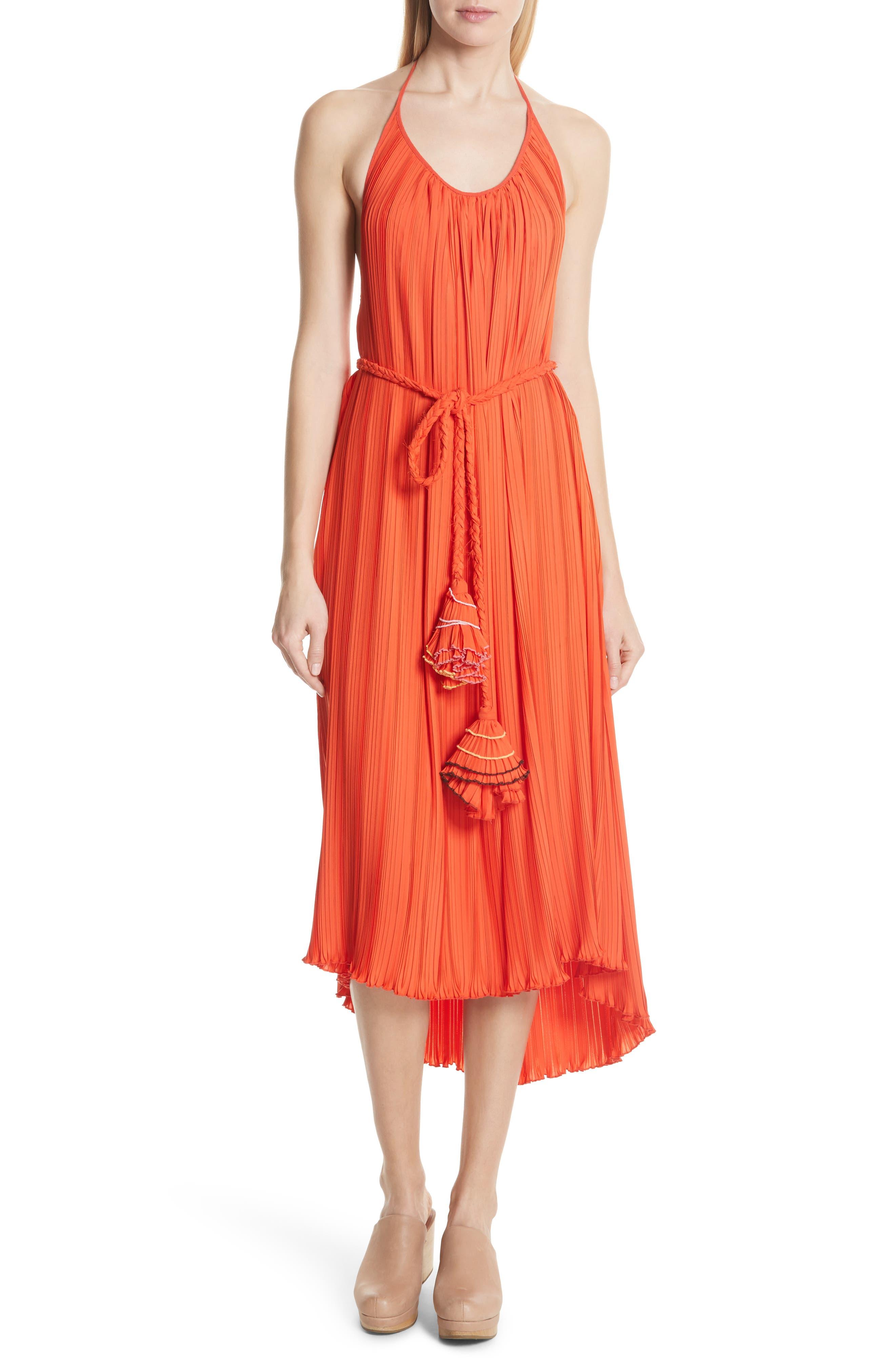 Rachel Comey Sambuca Halter Dress, Coral