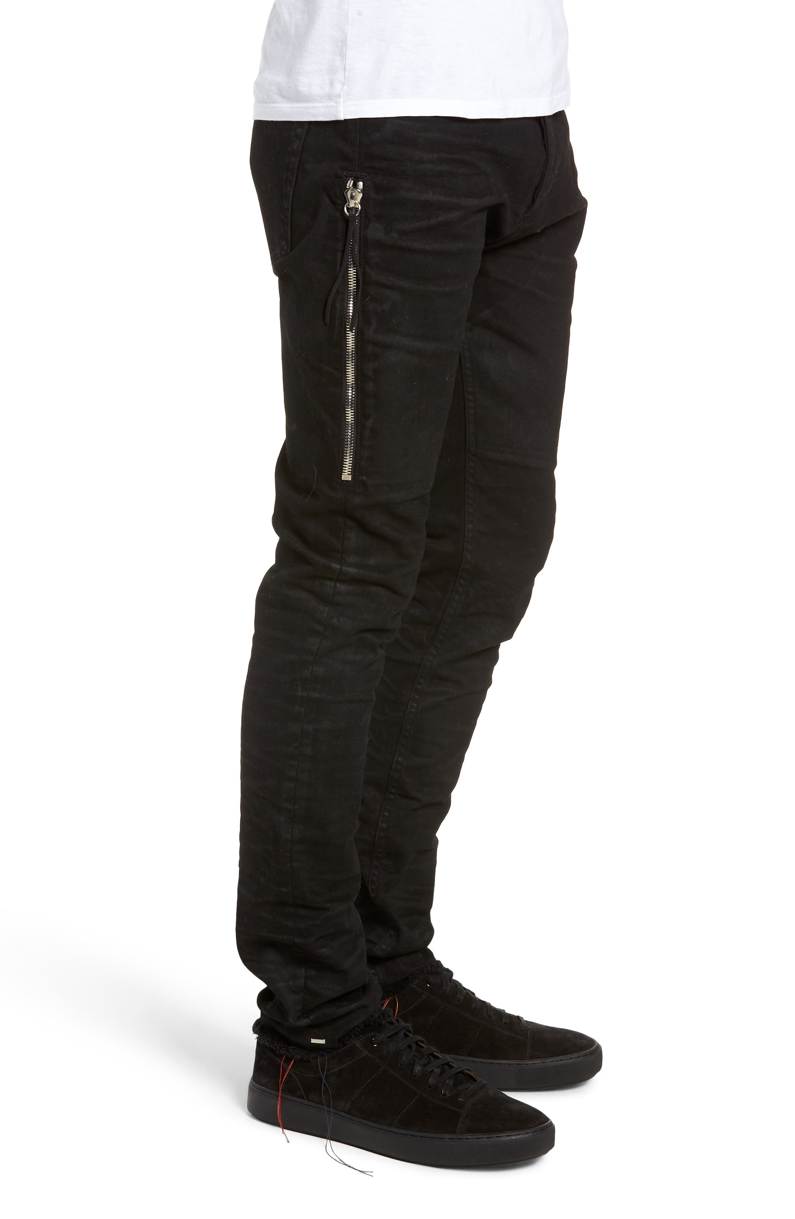 Trafford Skinny Fit Jeans,                             Alternate thumbnail 3, color,                             HERITAGE WAX