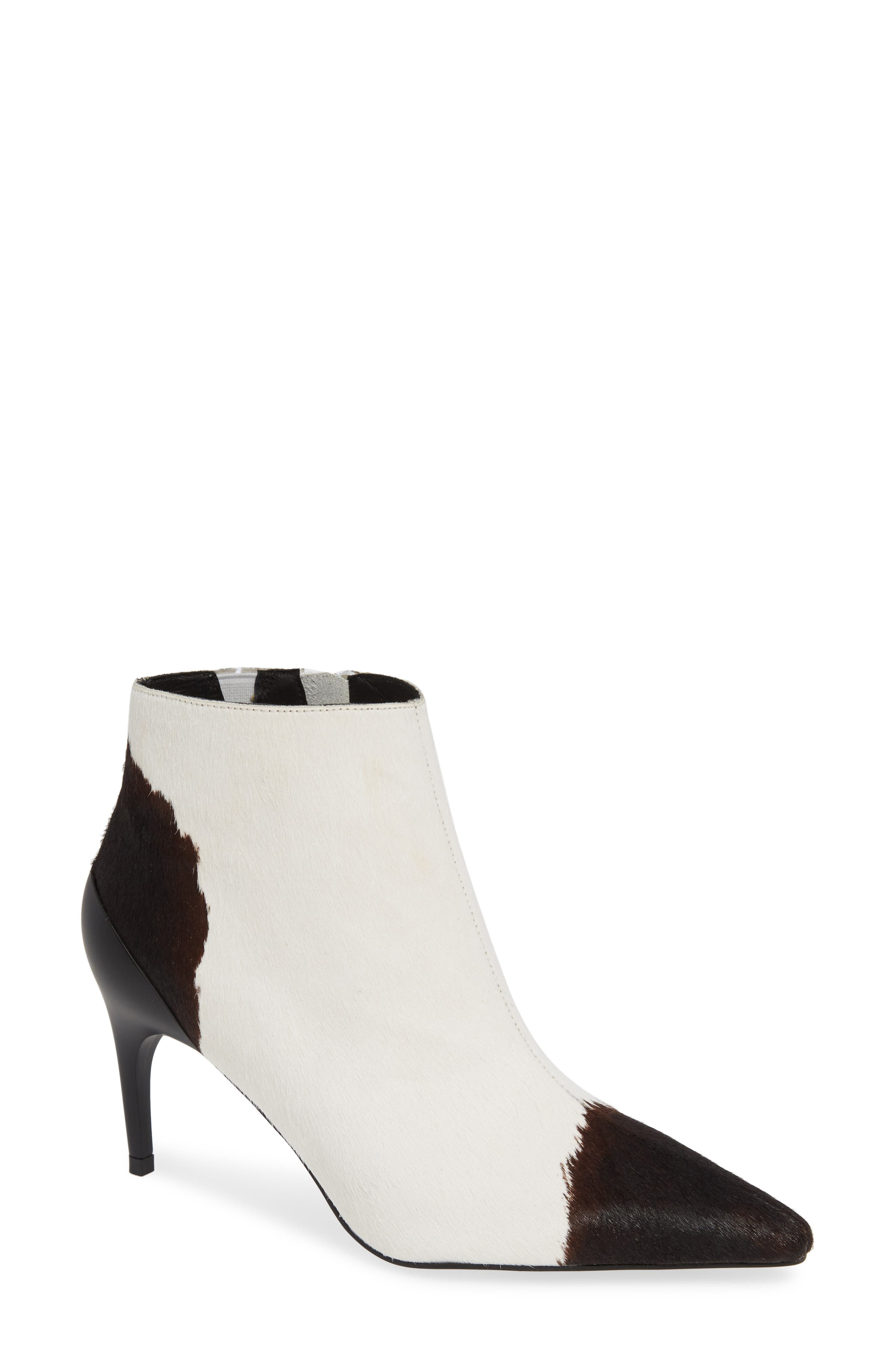 JEFFREY CAMPBELL Barbell-F Genuine Calf Hair Bootie, Main, color, 001