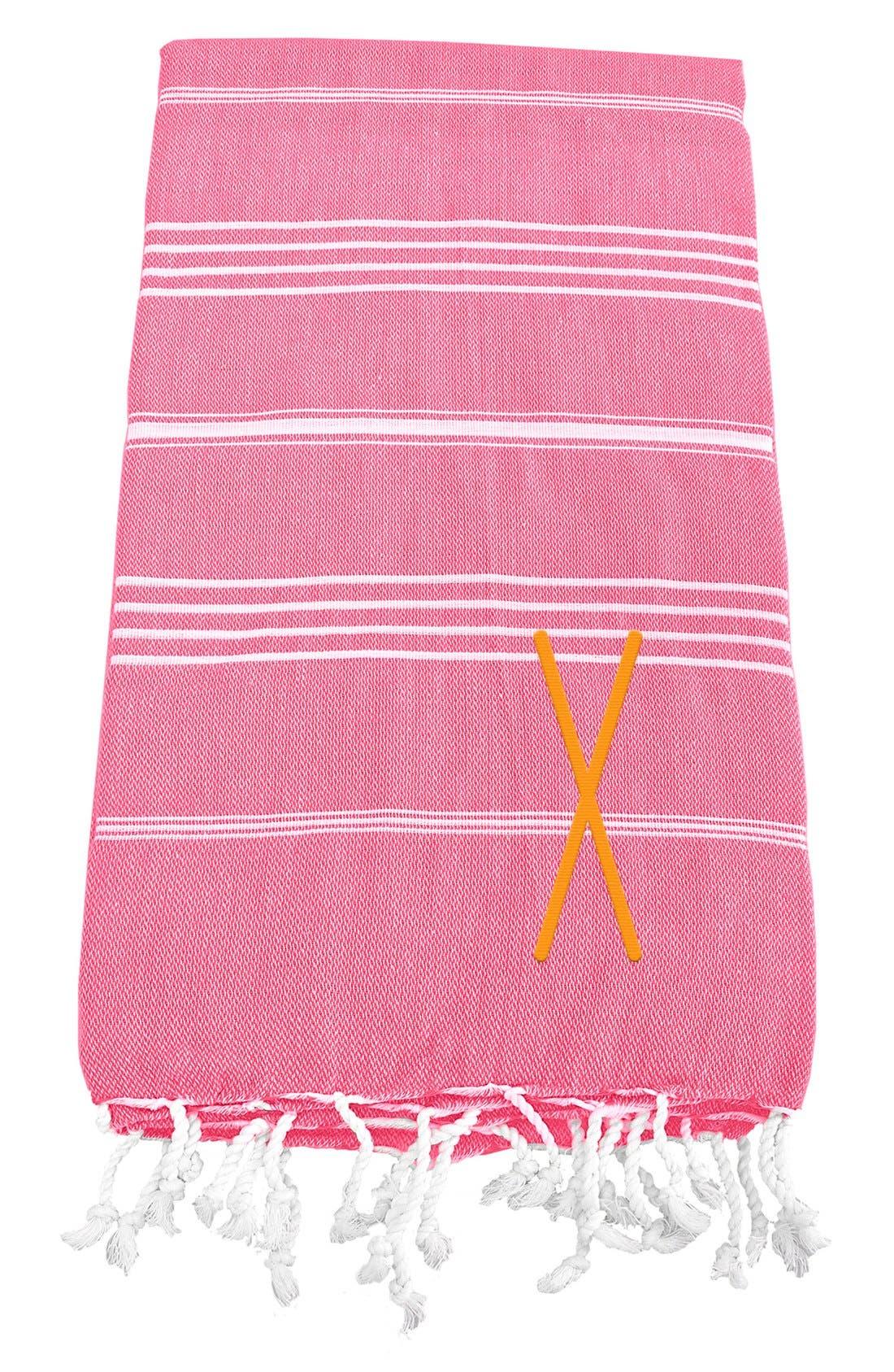 Monogram Turkish Cotton Towel,                             Main thumbnail 160, color,