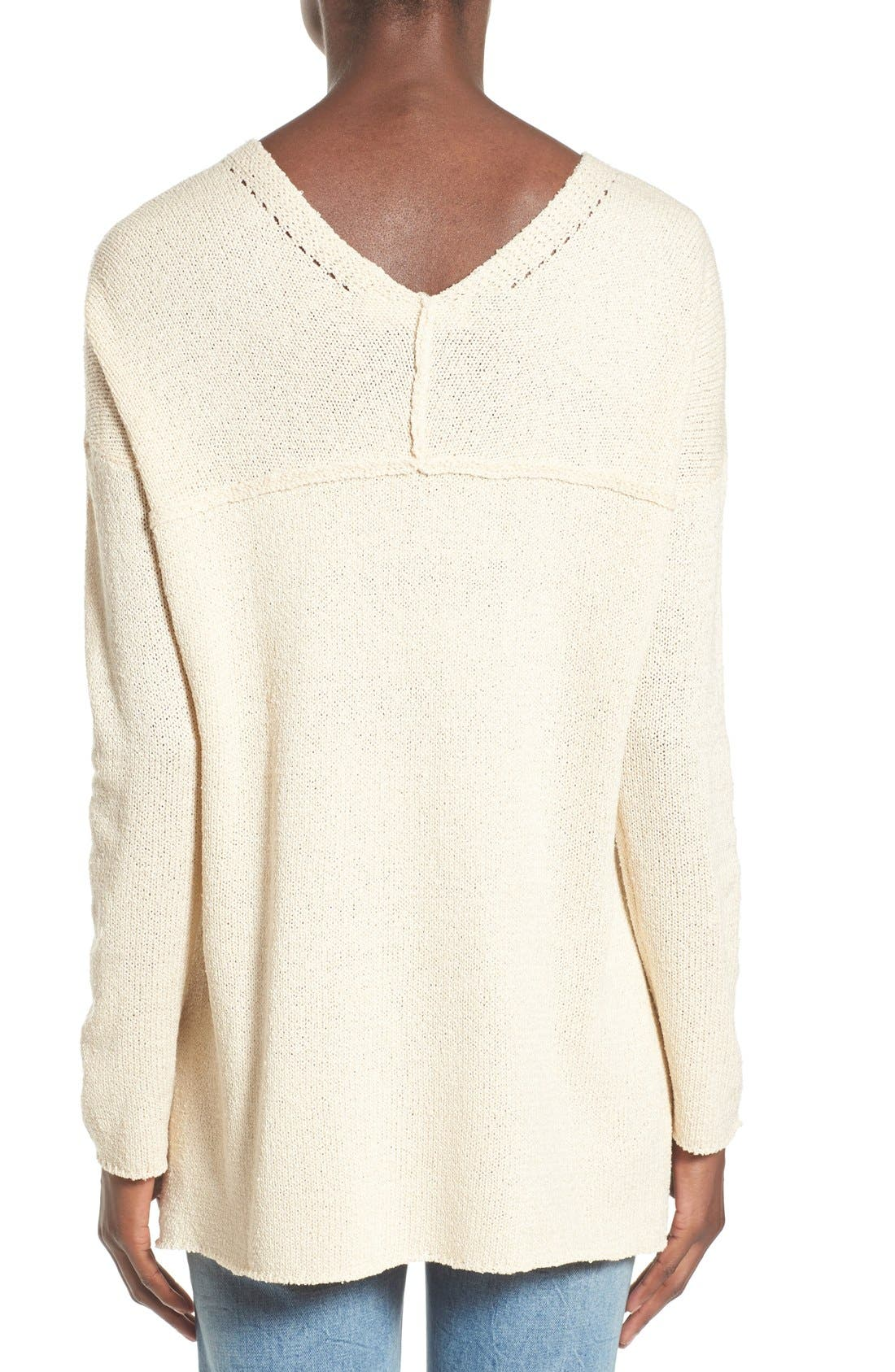ASTR Lace-Up Sweater,                             Alternate thumbnail 16, color,