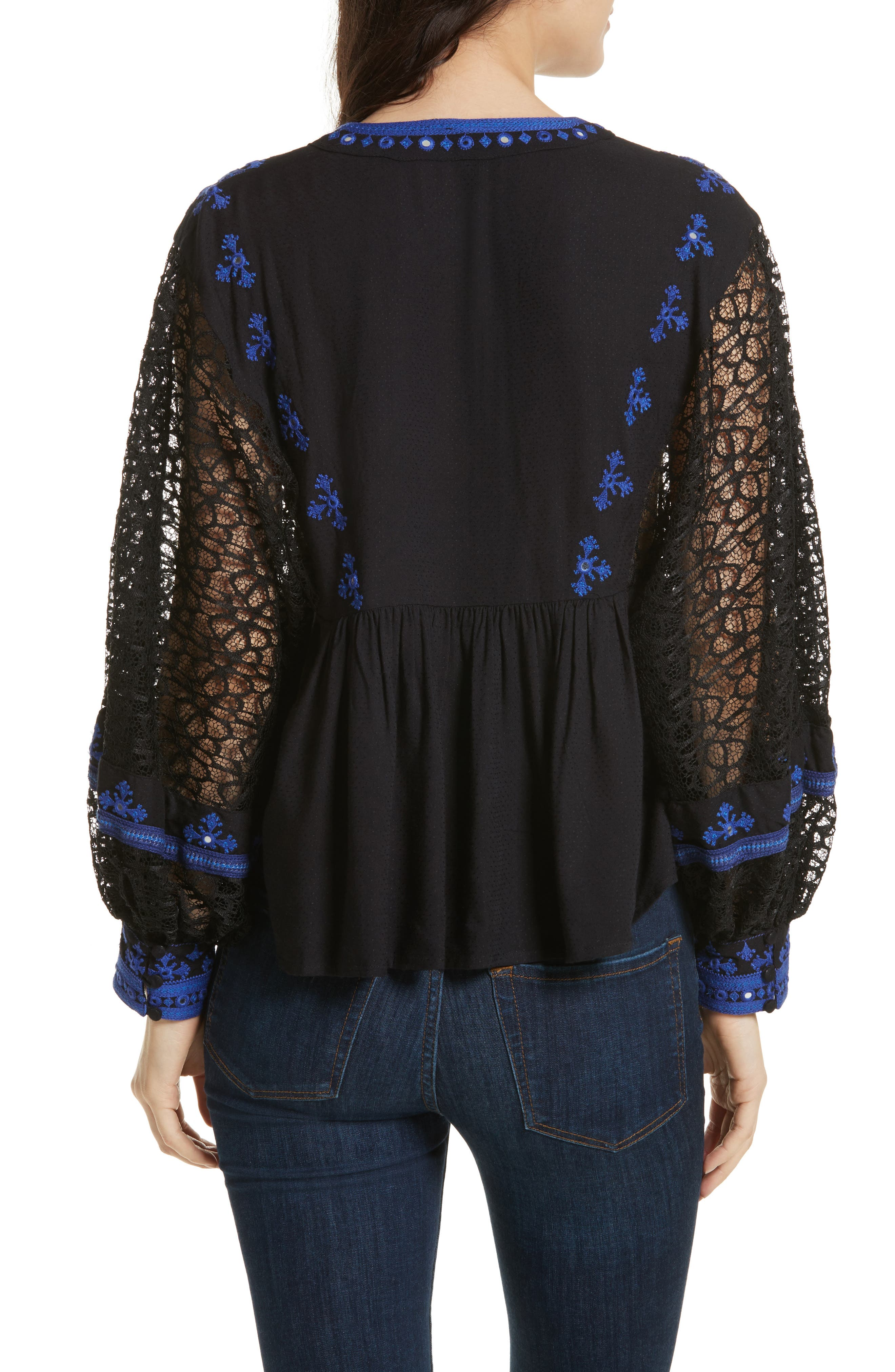 Boogie All Night Blouse,                             Alternate thumbnail 2, color,                             001
